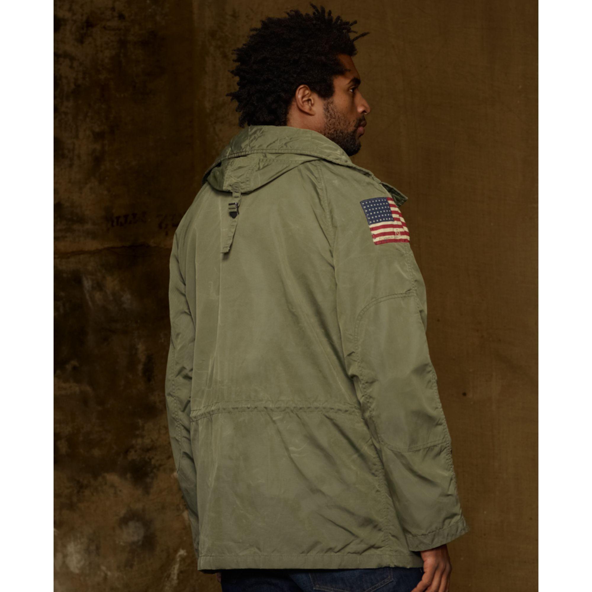 Denim & Supply Ralph Lauren Green Down Snorkel Jacket for men