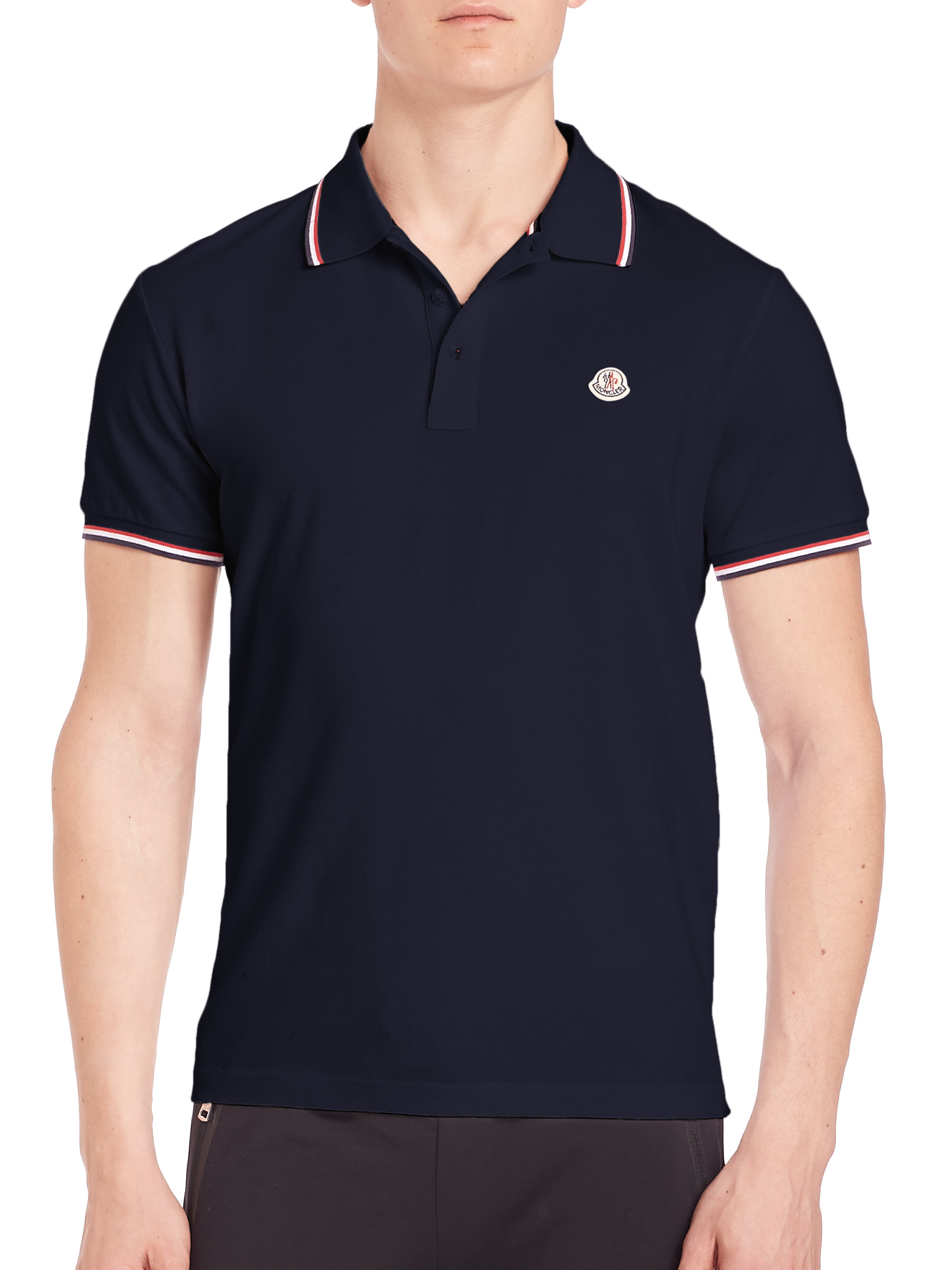 moncler polo mens blue