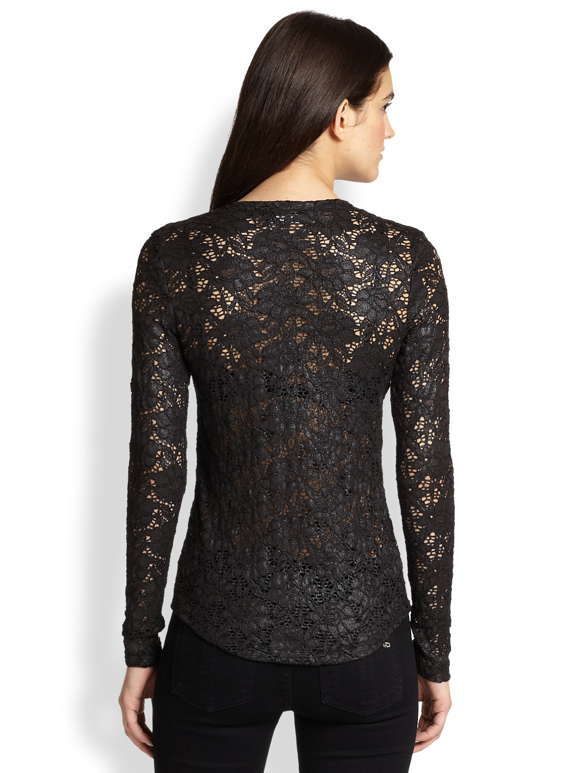Simply Styled Women's Lace Long-Sleeve T-Shirt (1) Sold by Sears. $ $ Jhon Peters Women Lace Sheered Long Sleeve Slim Top. Sold by JHON PETERS. $ Simply Styled Women's Lace Top - Floral (1) Sold by Sears. $ $ DEAL ENDS SOON Alisa Pan Women's Sexy Sheer Lace Long Sleeve Top