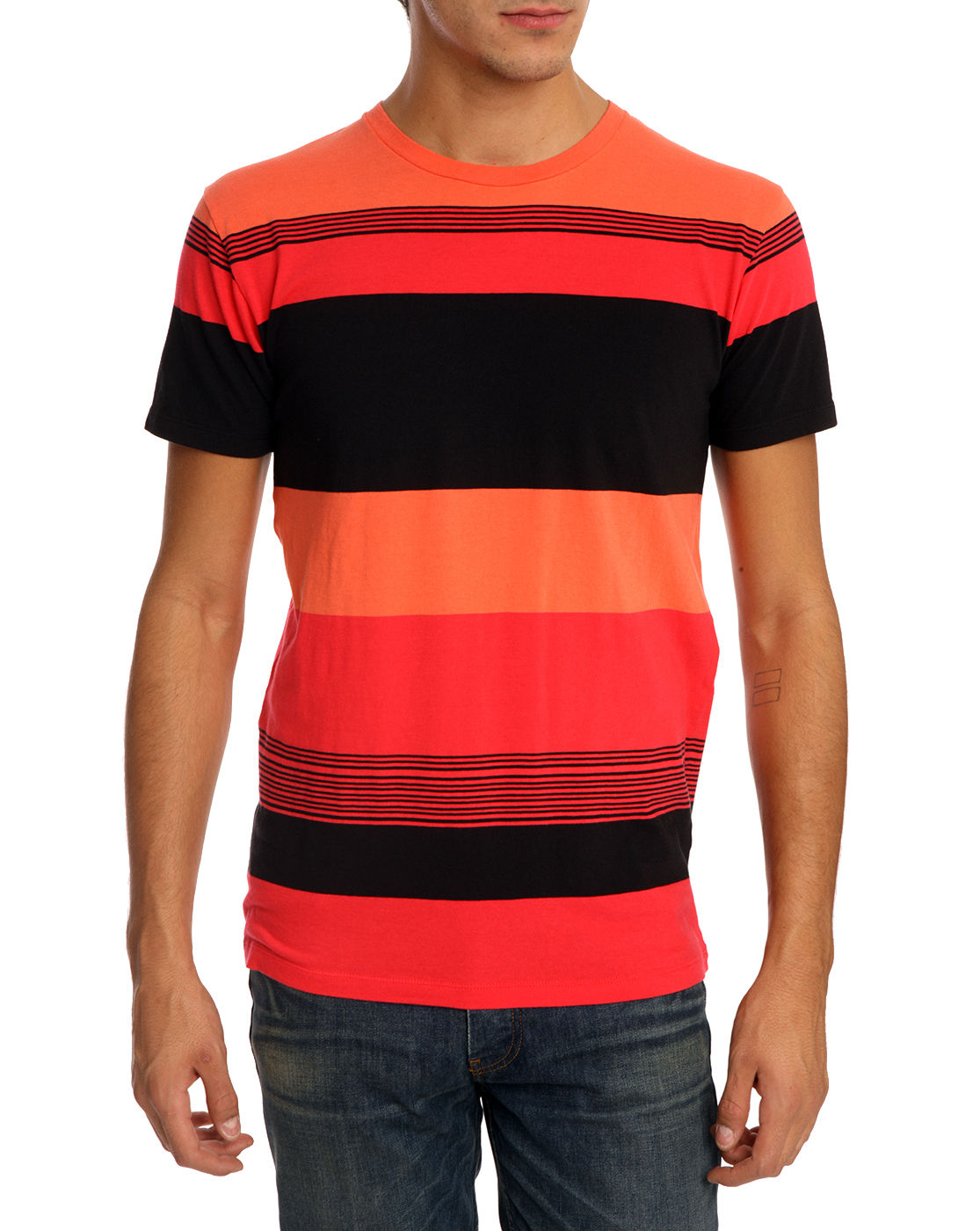 Marc By Marc Jacobs Dylan Stripe Coral T Shirt In Red For