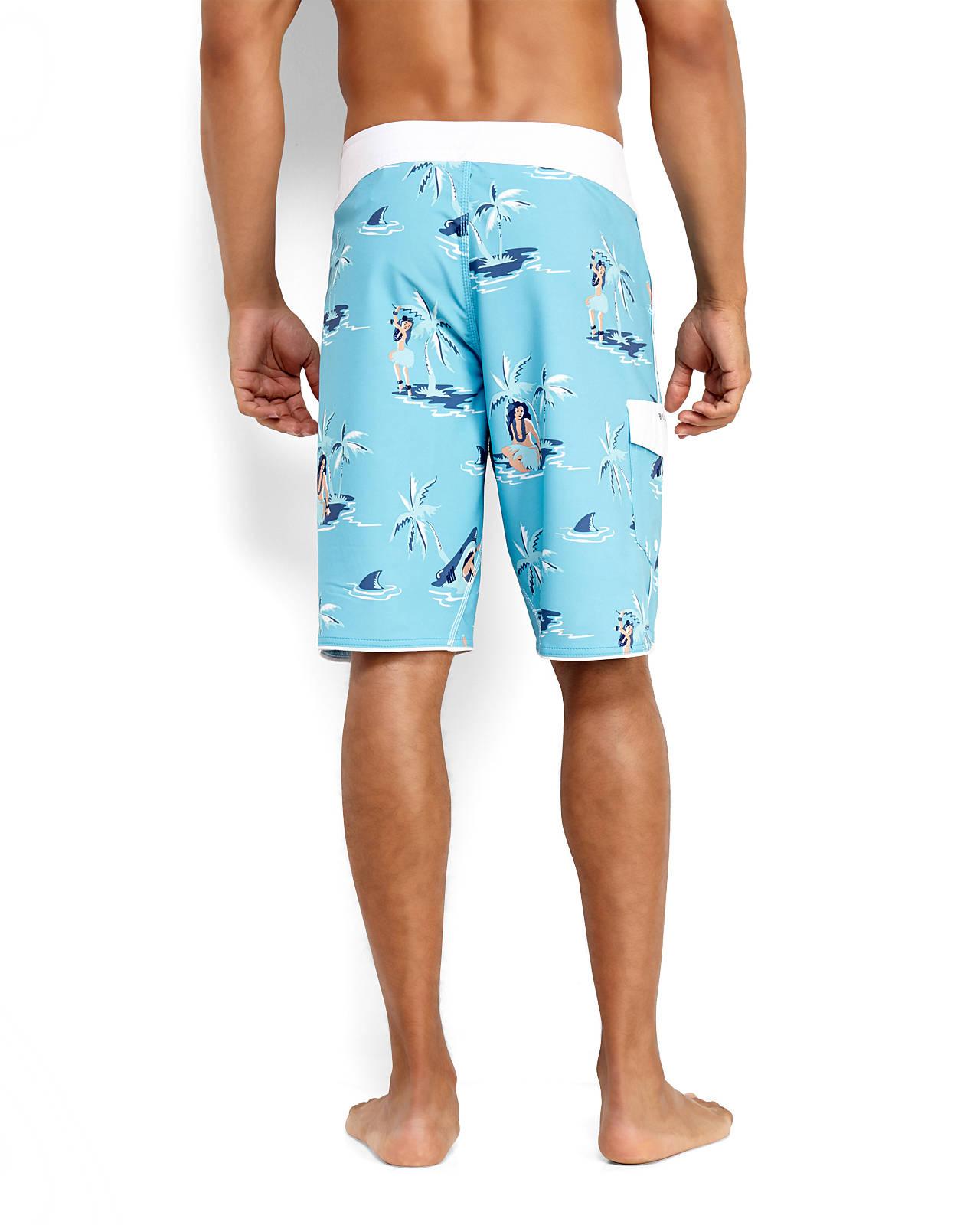 Mens Swim Surf/ Board Shorts by Le Shark 'Juanita' Mesh ... |Shark Board Shorts For Men