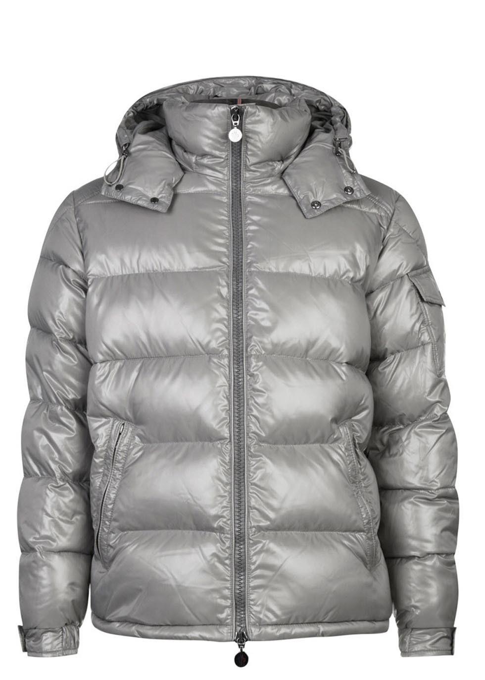 grey moncler hooded jacket