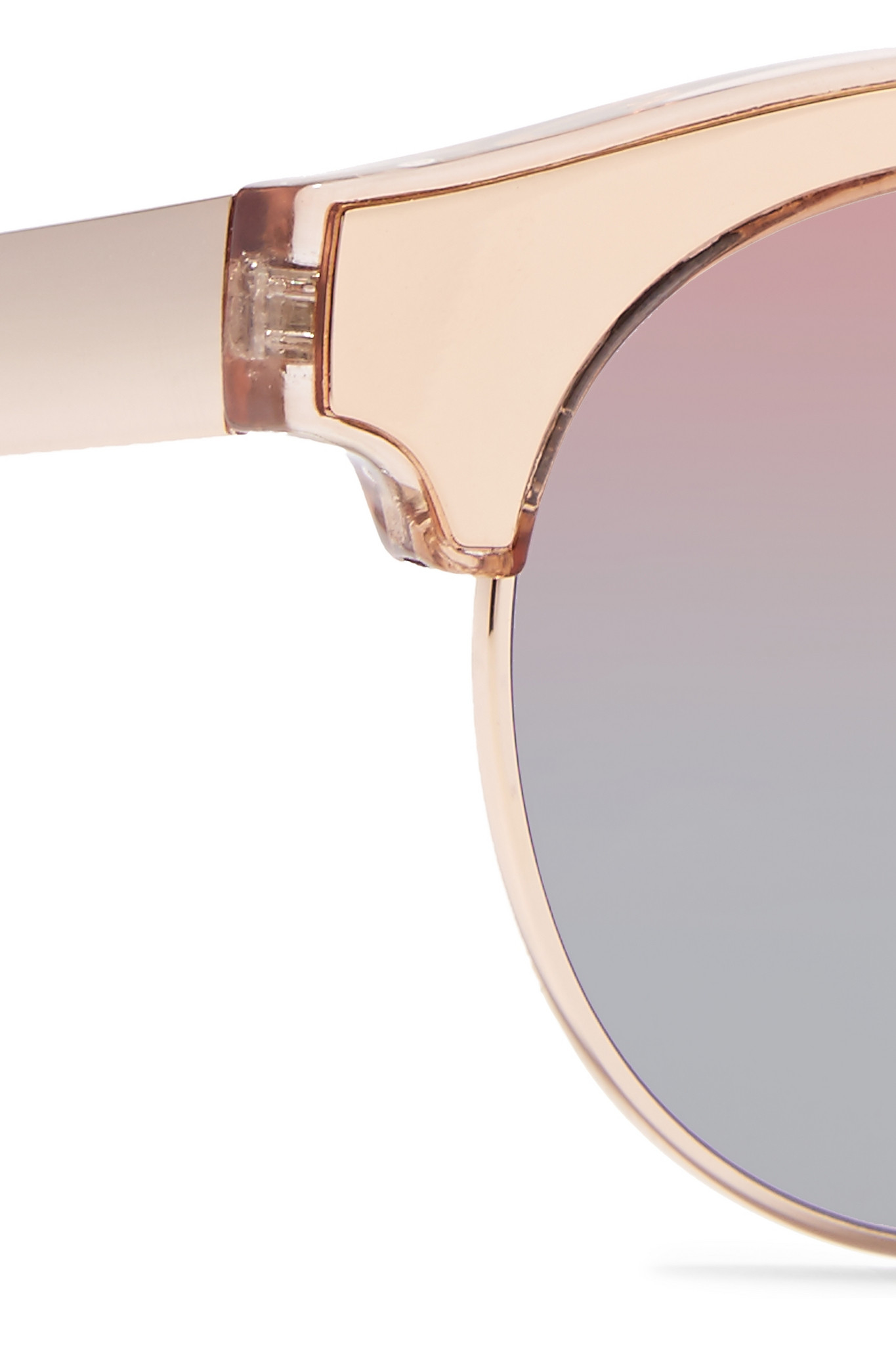 Le Specs Luxe Cleopatra Cat Eye Metal Mirrored Sunglasses