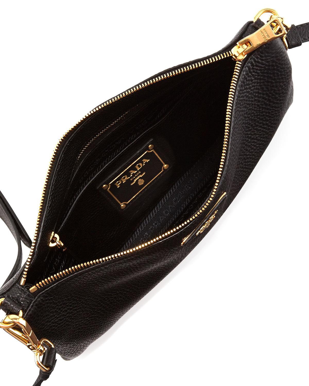 69f9fd429a84 ... australia lyst prada vitello daino crossbody bag in black 5ad6d 4ce5a