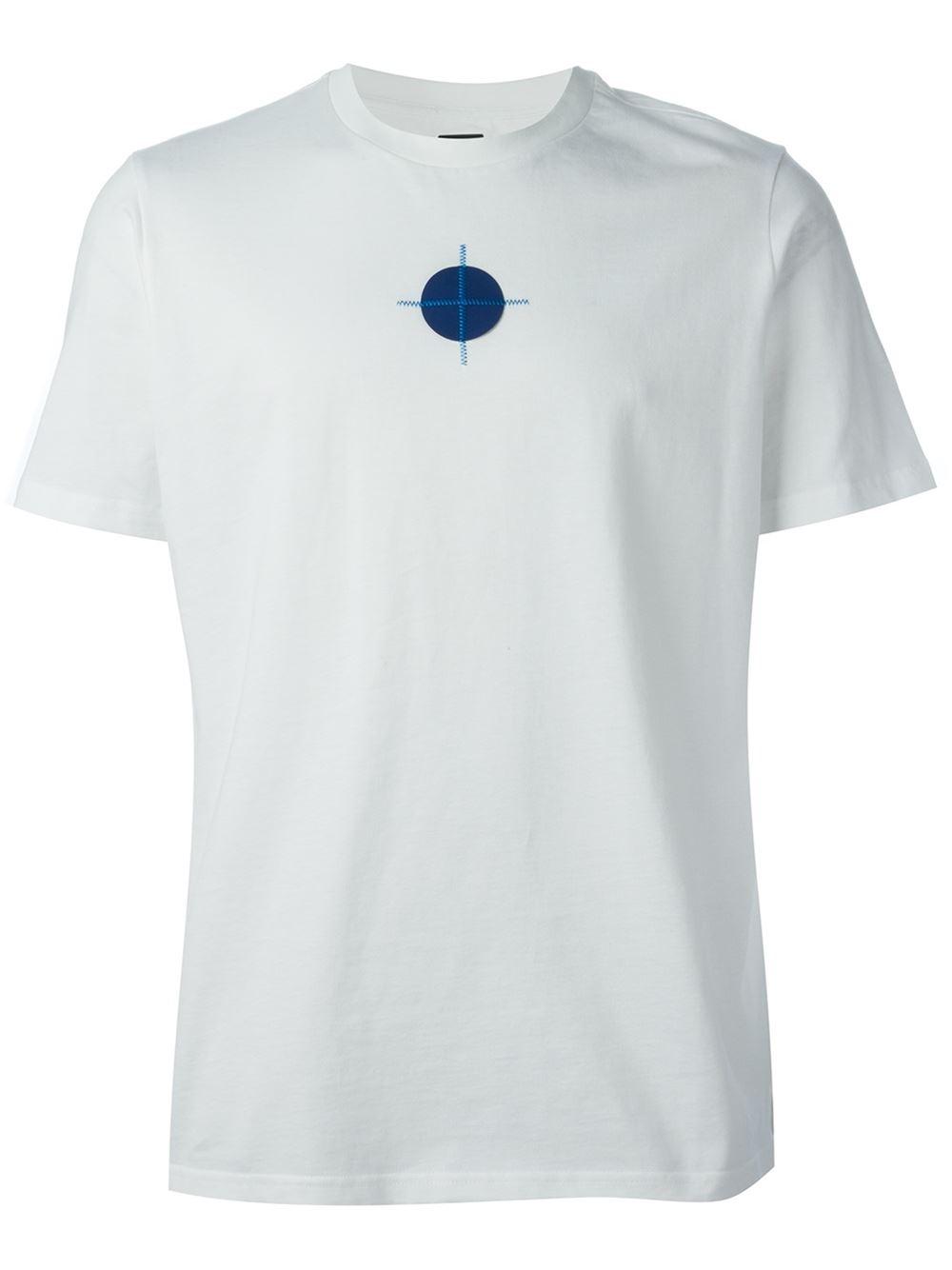 ec7060af7 OAMC White Embroidered Mini Circle T-Shirt for men
