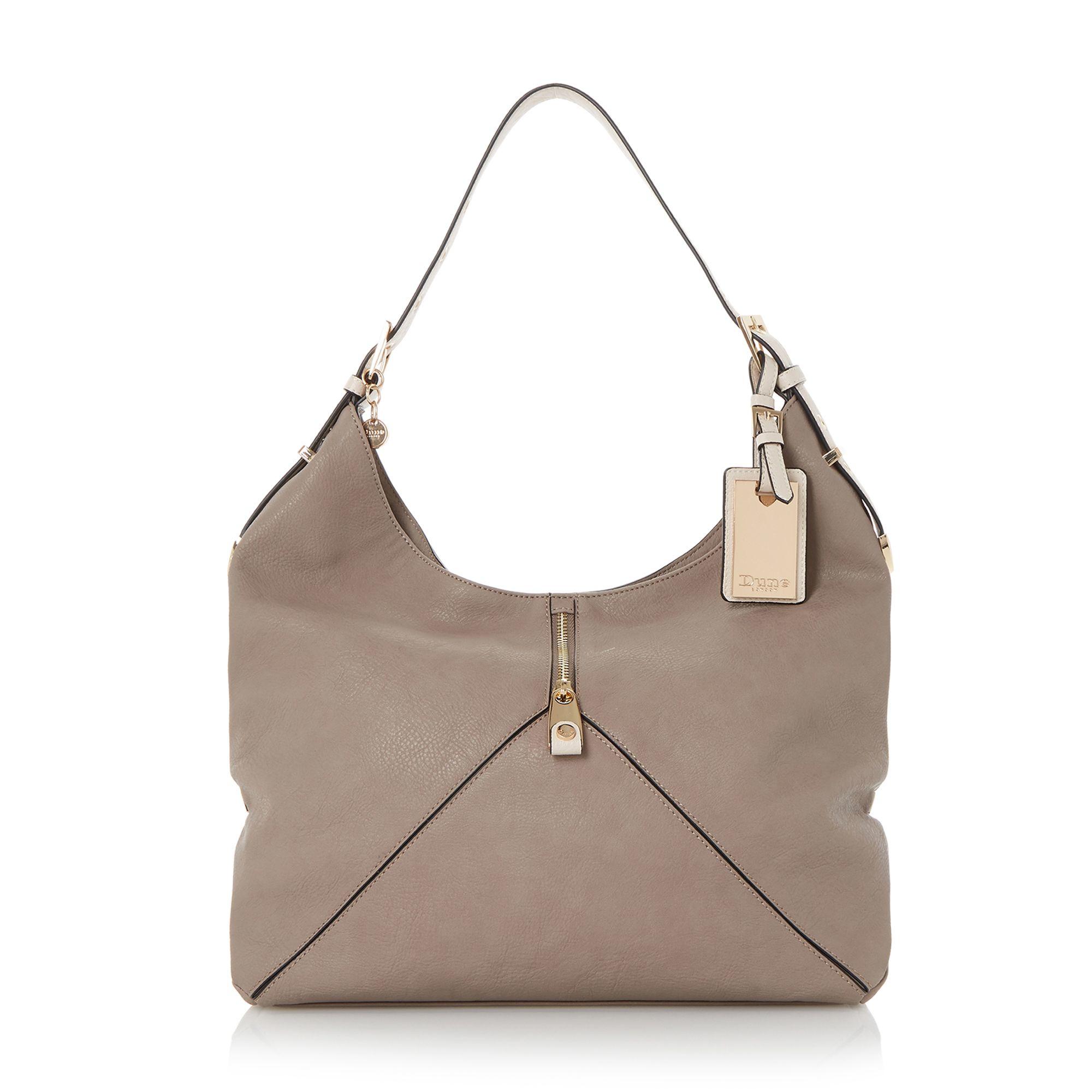 Lyst - Dune Daryl Colour Block Panel Hobo Bag in Brown b2c0848f2ba61