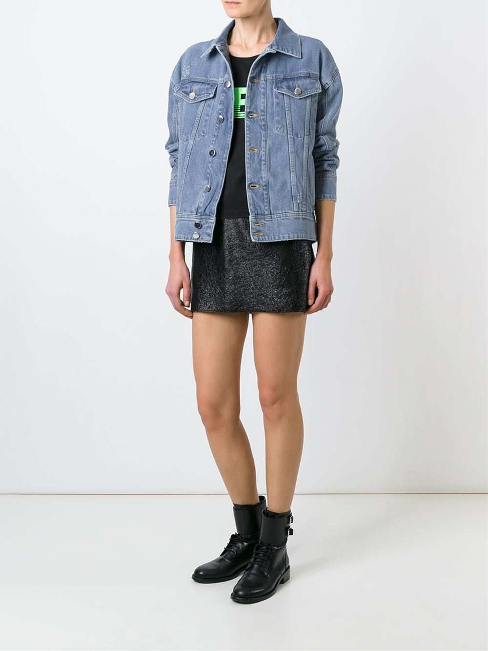 Filles A Papa Jackson Denim Jacket in Blue
