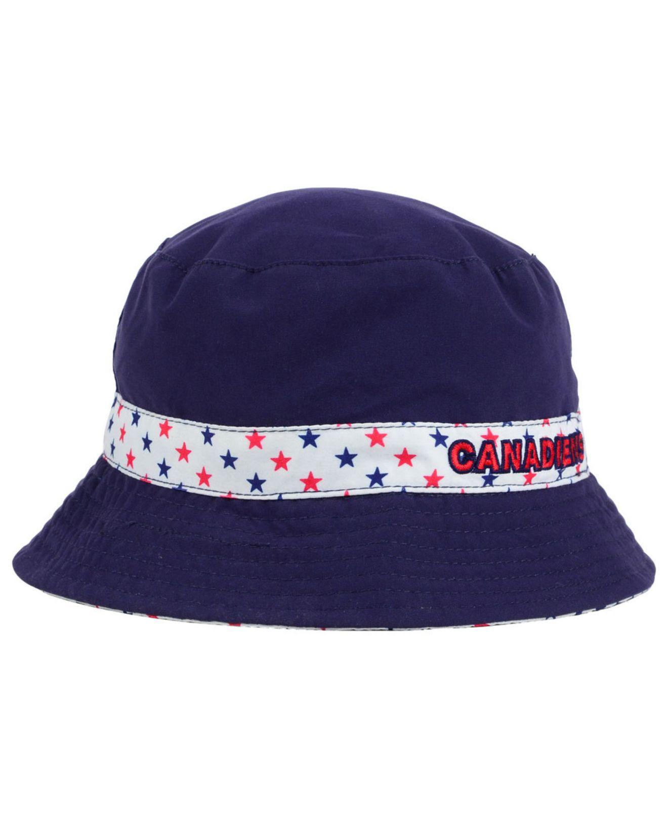 1d7f6dad5f9 ... denmark lyst ktz kids montreal canadiens reversible bucket hat in blue  342f9 82641