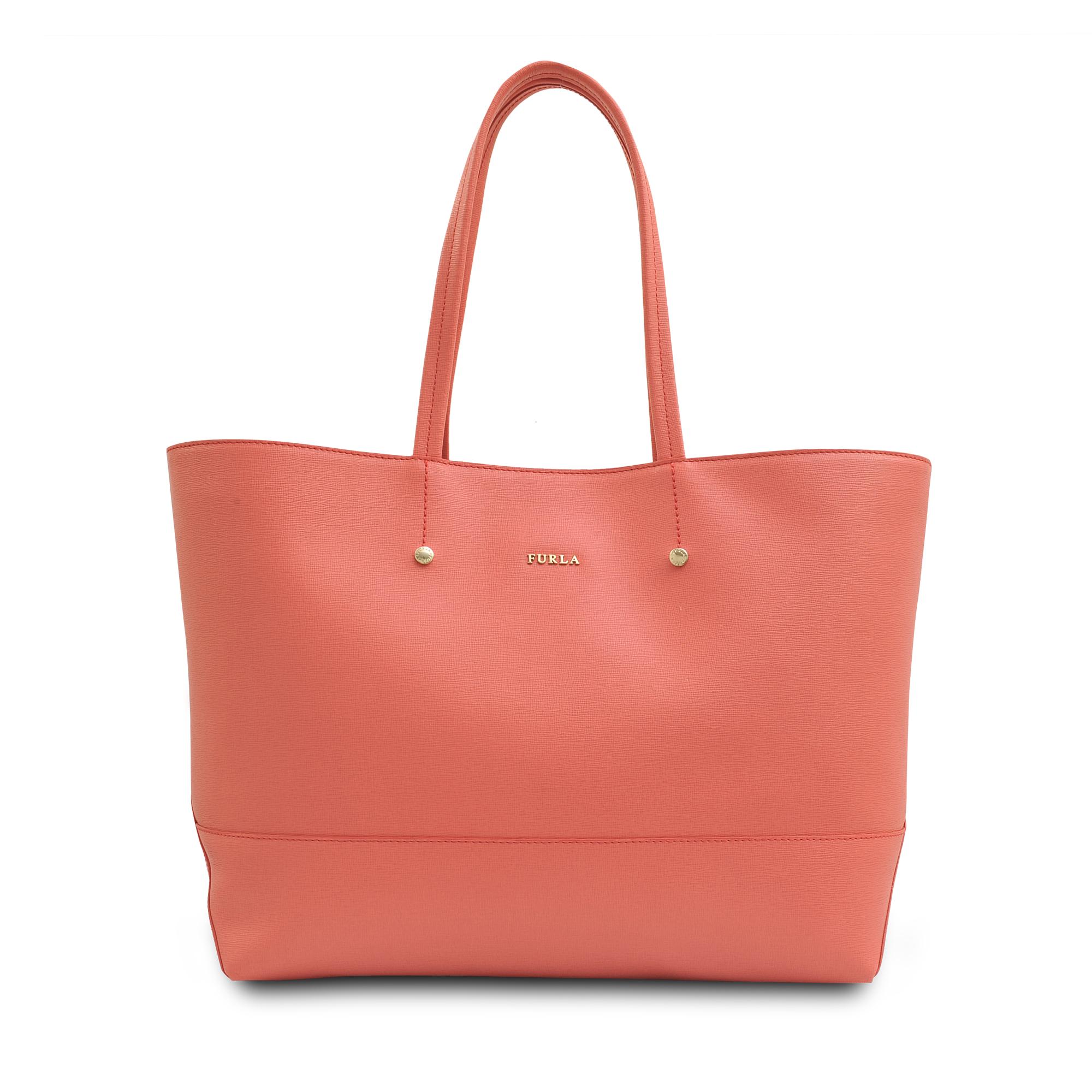 furla melissa medium saffiano tote bag in pink lyst. Black Bedroom Furniture Sets. Home Design Ideas