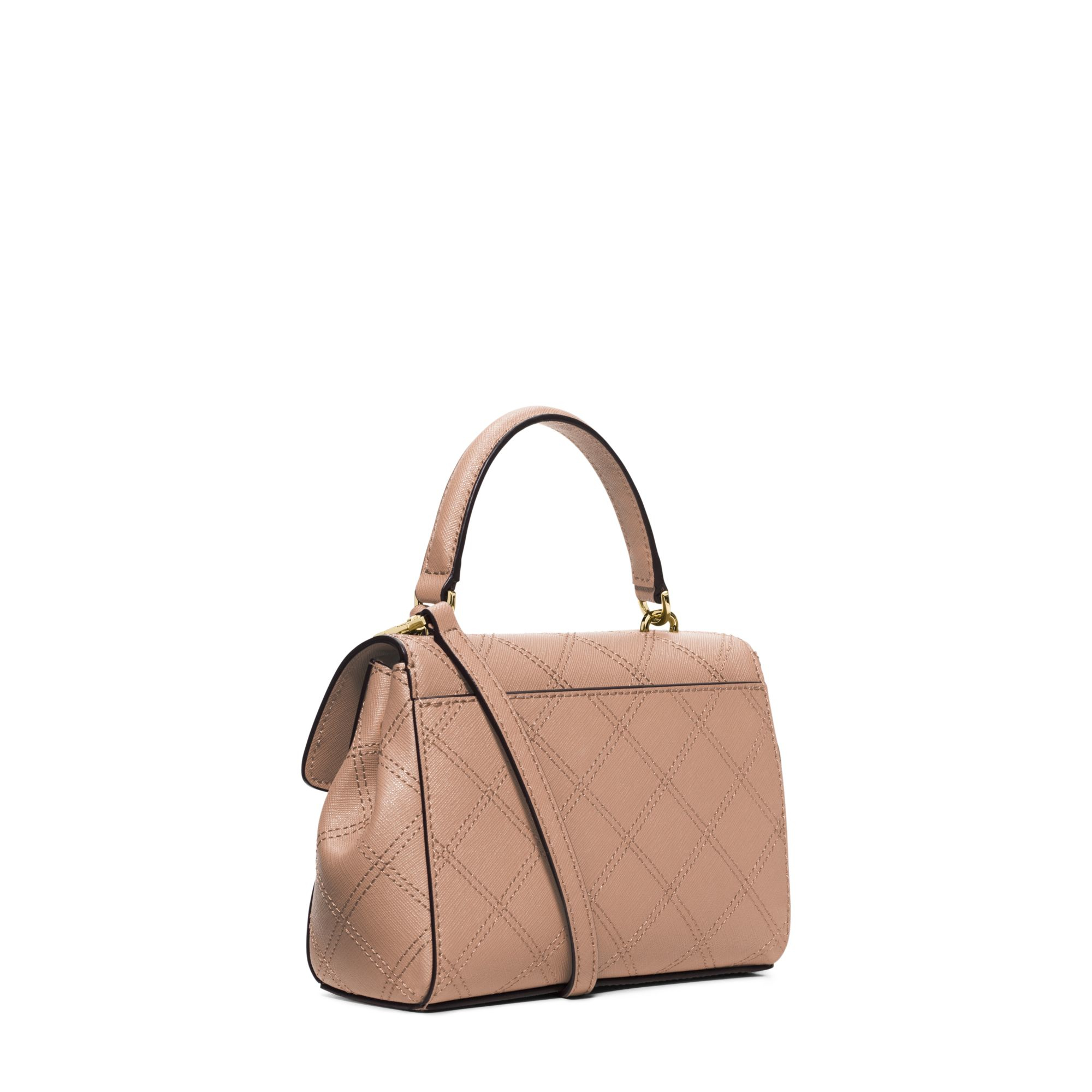 b99e5aca0a40 Lyst - Michael Kors Ava Saffiano-Leather Cross-Body Bag in Brown