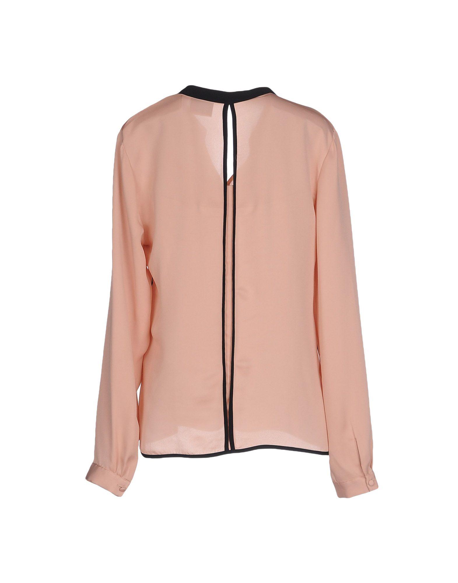 lyst vero moda blouse in pink. Black Bedroom Furniture Sets. Home Design Ideas