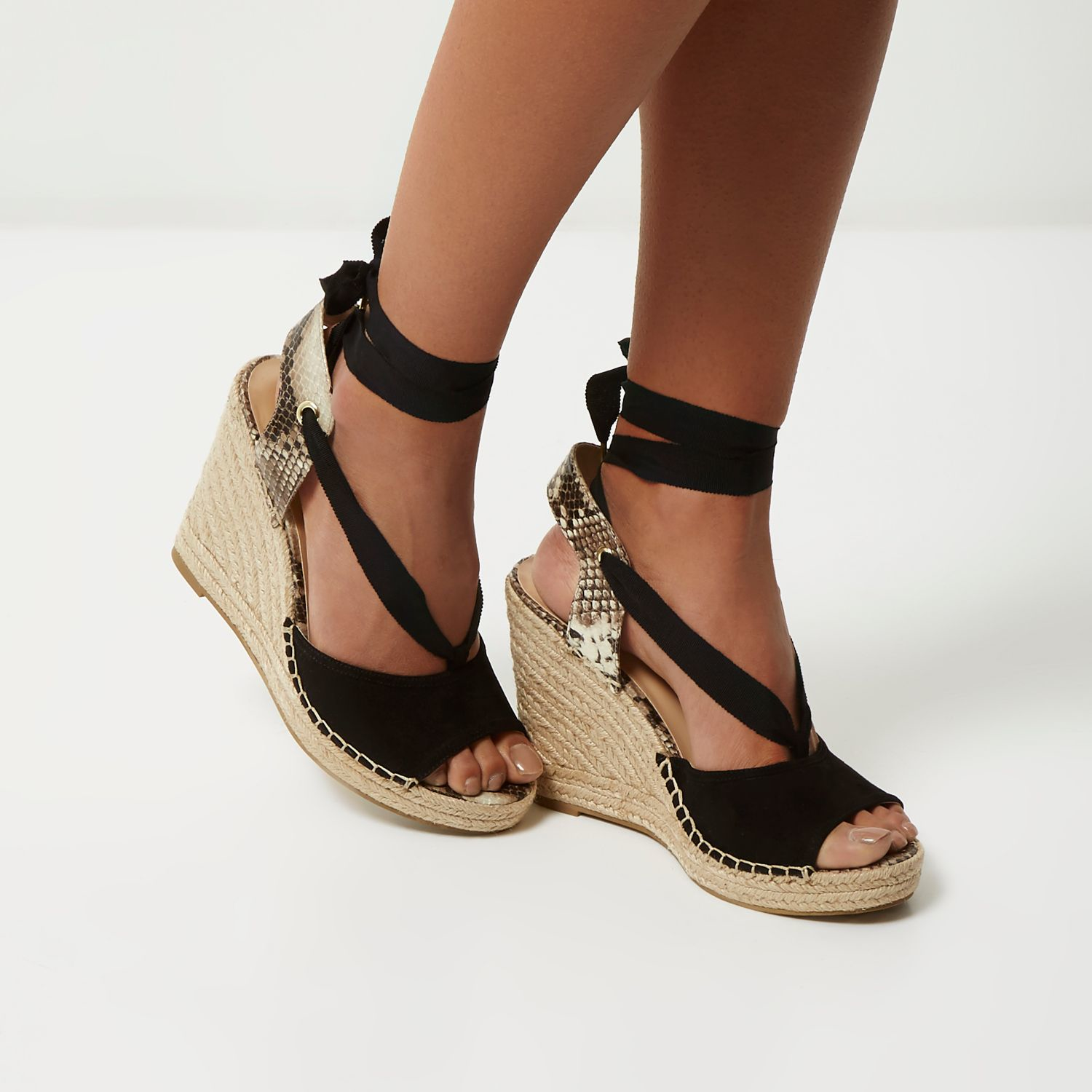 River Island Espadrilles With Ankle Strap