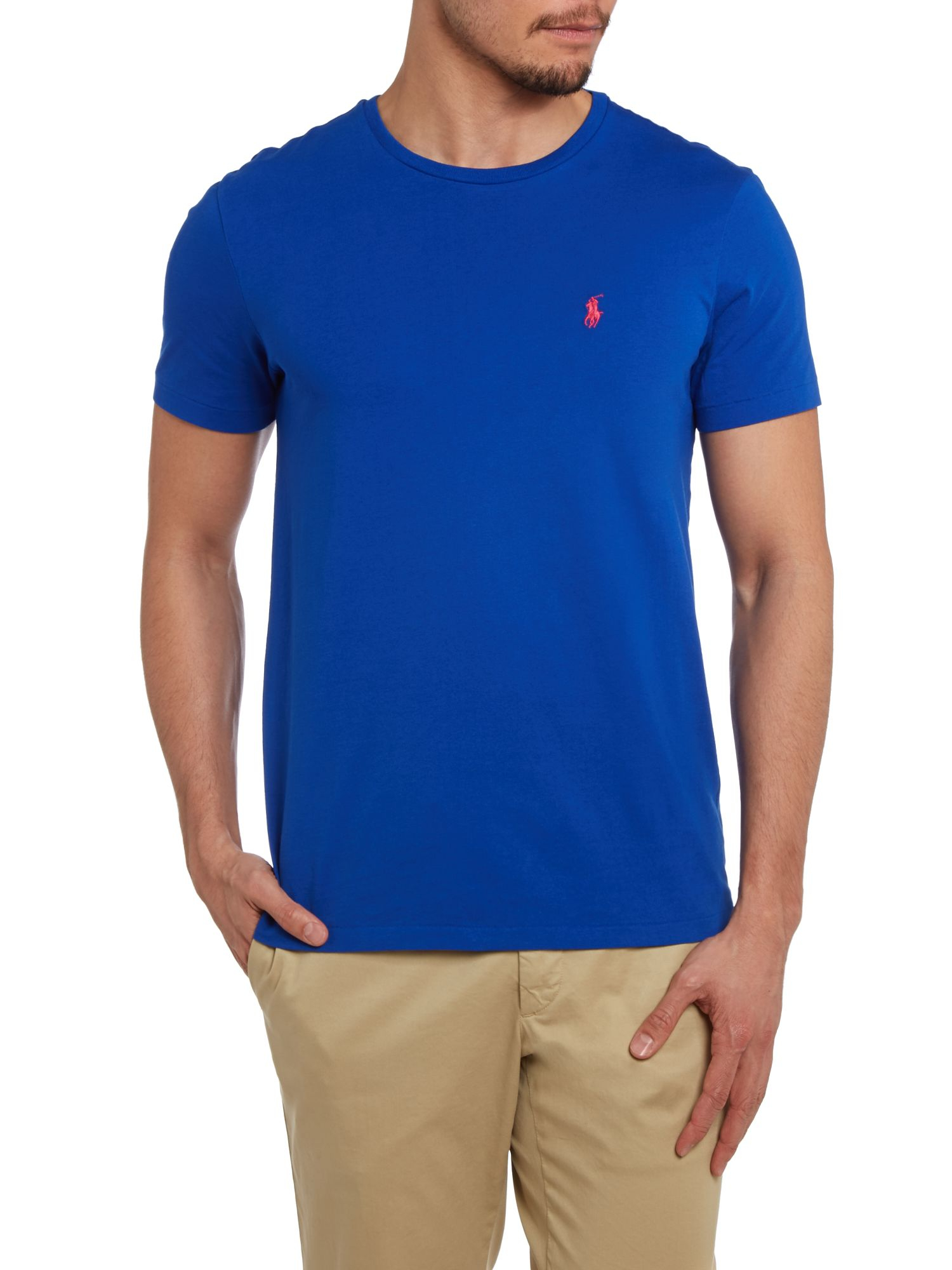 polo ralph lauren classic custom fit tshirt in blue for men lyst. Black Bedroom Furniture Sets. Home Design Ideas