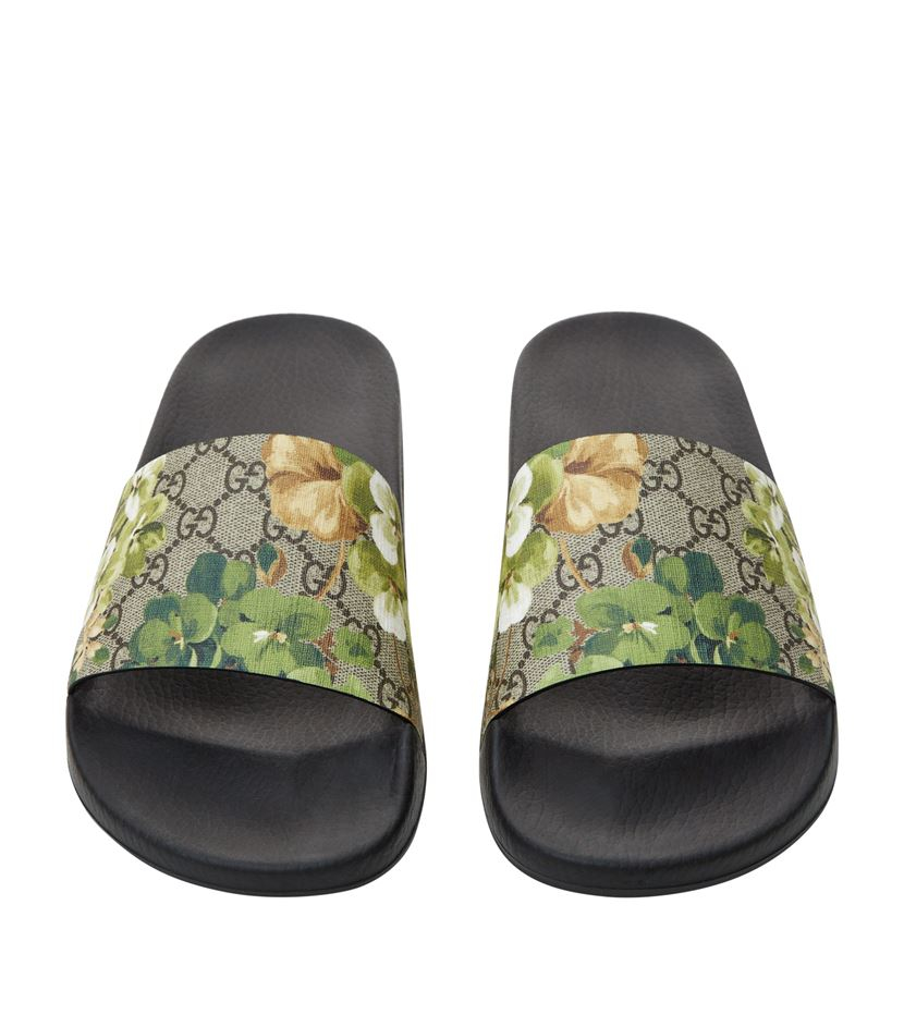 3737e0670c0ef Gucci Pursuit Floral Slider in Green - Lyst