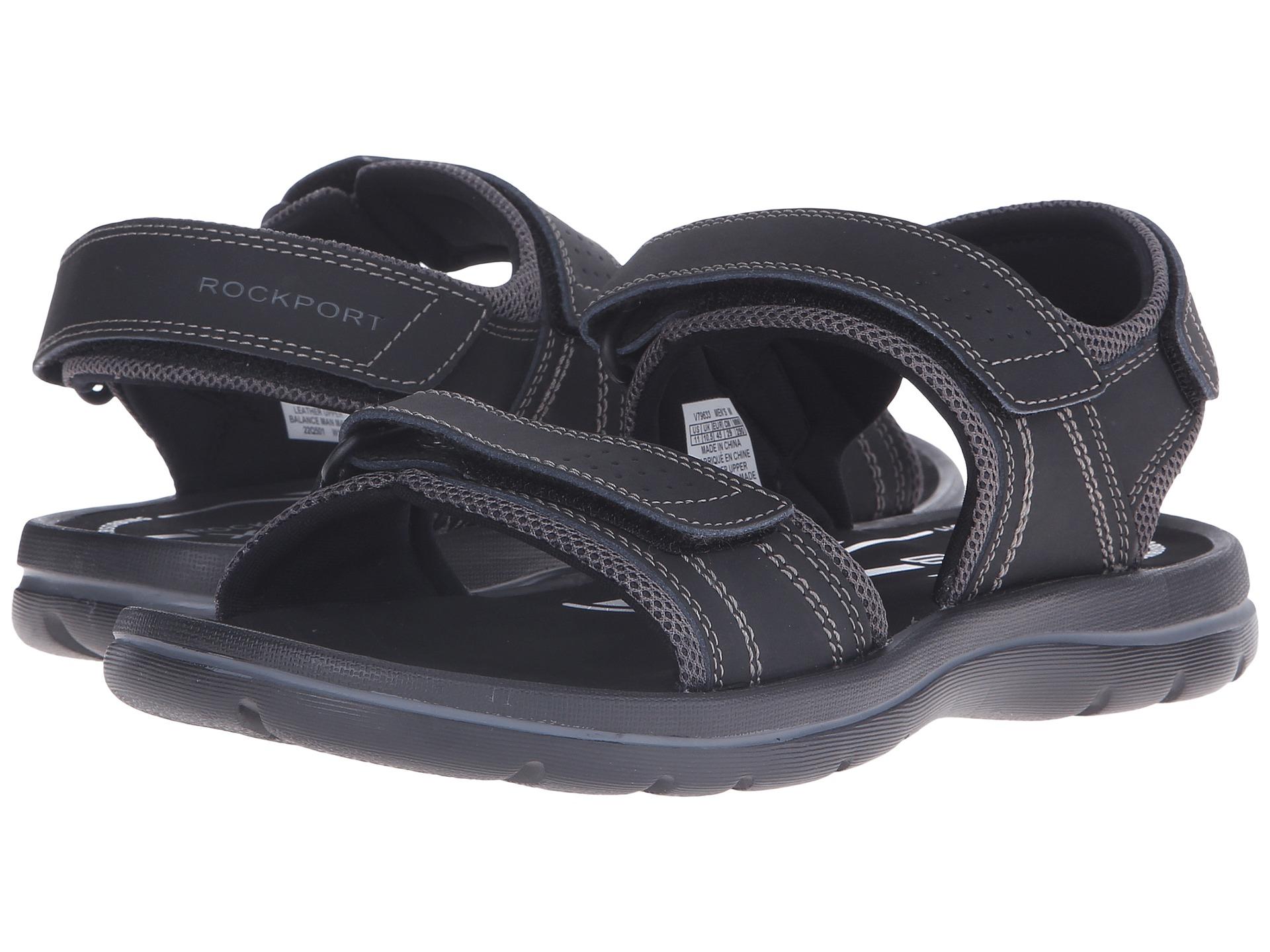 Rockport Get Your Kicks Sandals Qtr Strap In Black For Men