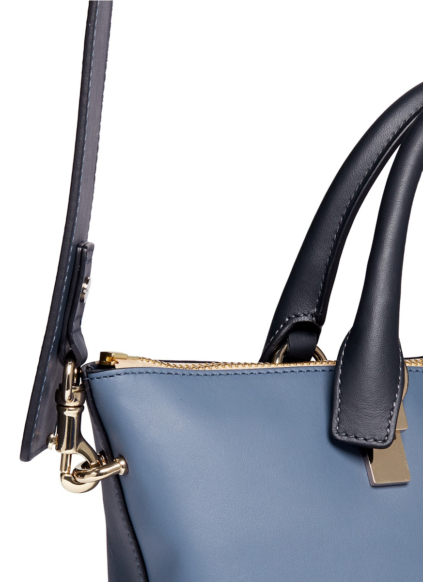 Chlo¨¦ \u0026#39;Baylee\u0026#39; Small Leather Tote in Blue (Blue and Green) | Lyst