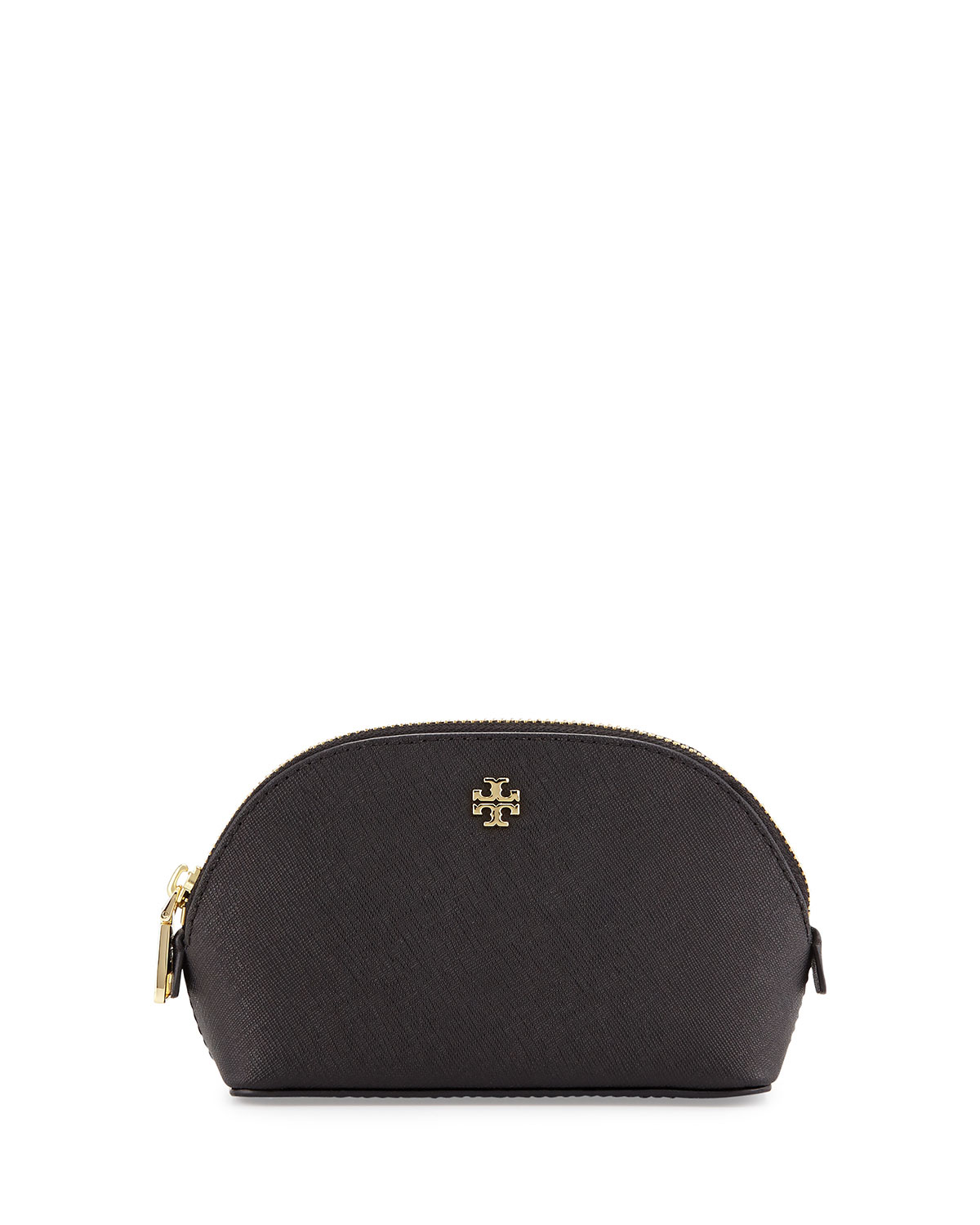 Tory burch York Small Saffiano Makeup Bag in Black : Lyst