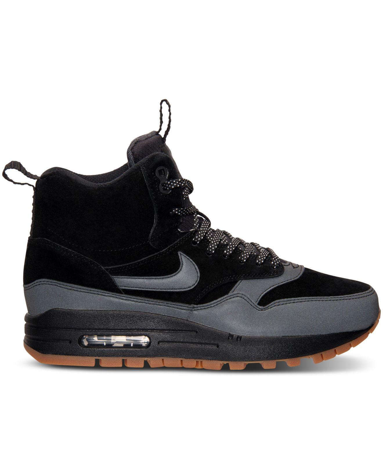 Nike Wmns Air Max 1 Mi Botte Chaussure Noir  / Gomme Dunk