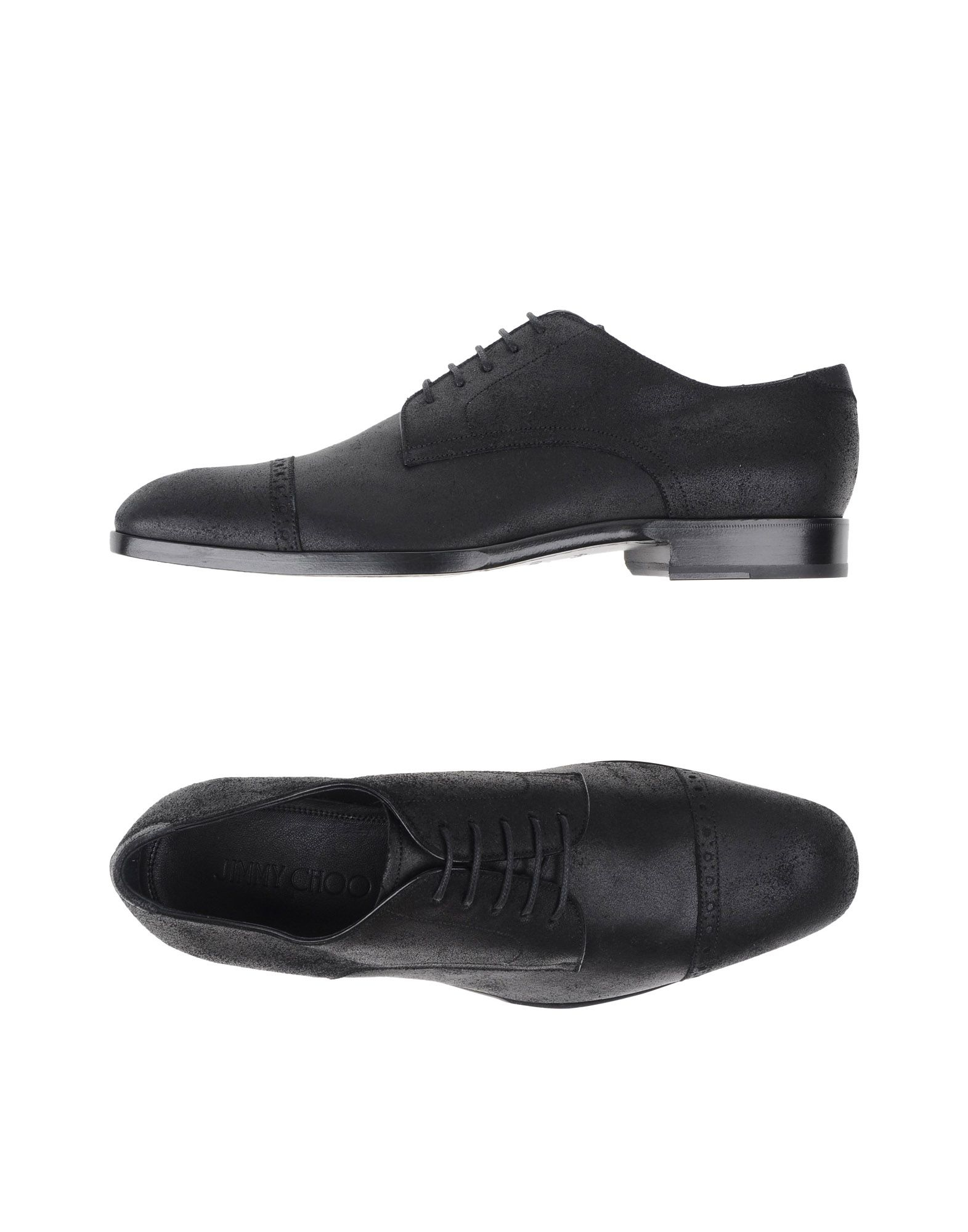jimmy choo lace up shoes in black for lyst