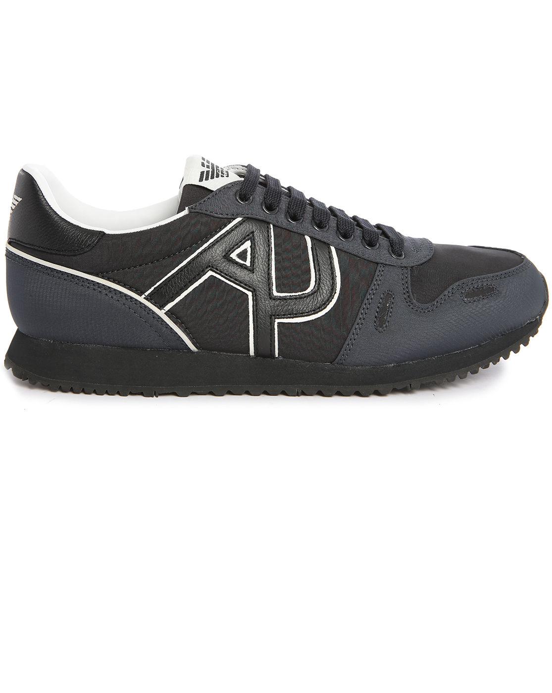 e5120bf9db Armani jeans Black Aj Logo Sneakers in Black for Men