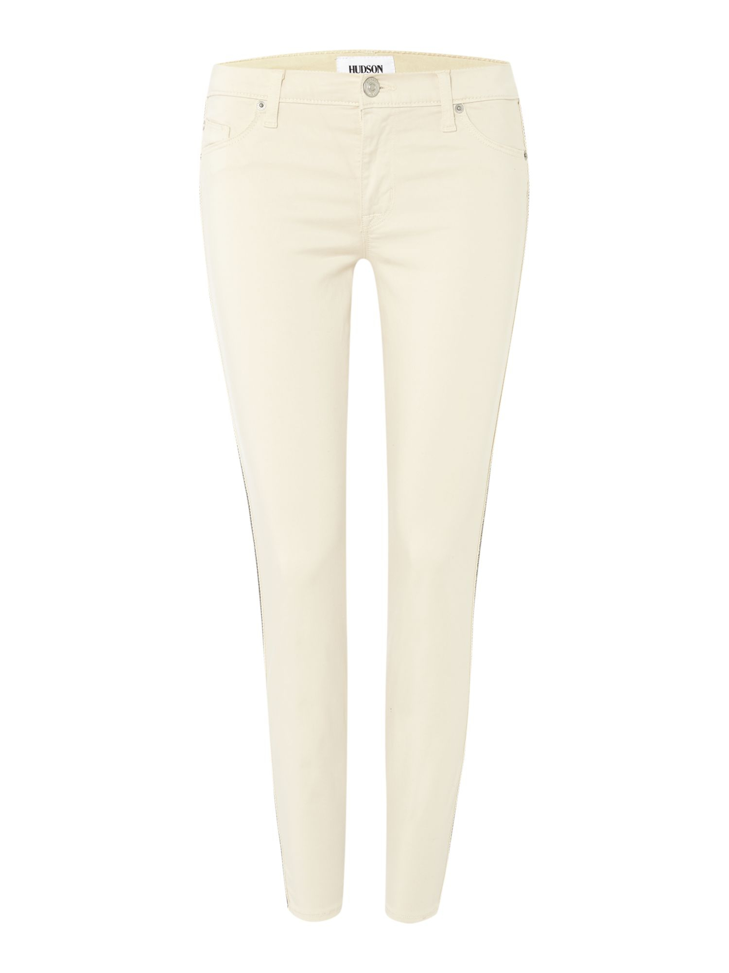 Hudson jeans Luna Super Skinny Cropped Jeans In Bone White in ...