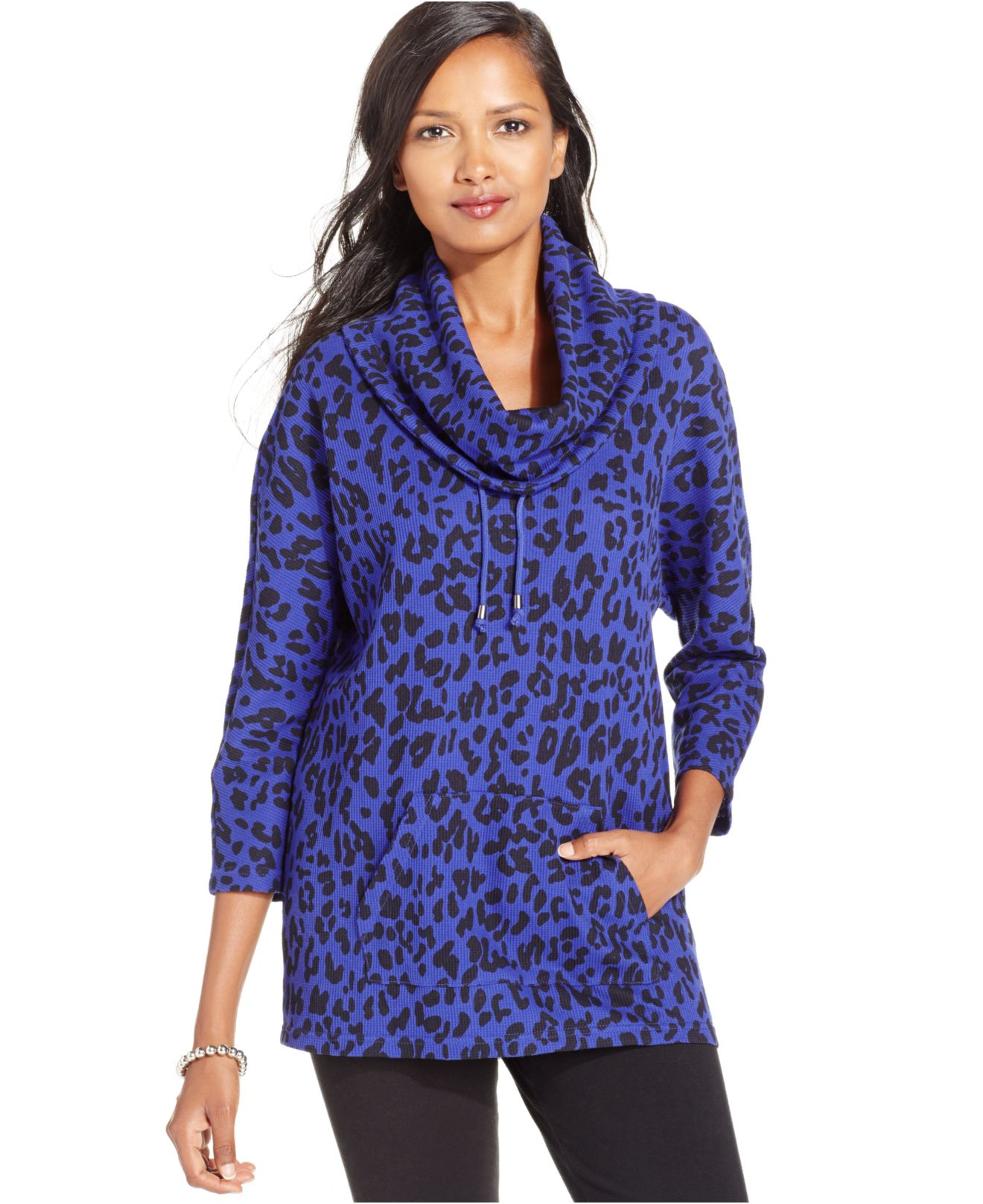 style co only at macy s in animal prism purple lyst