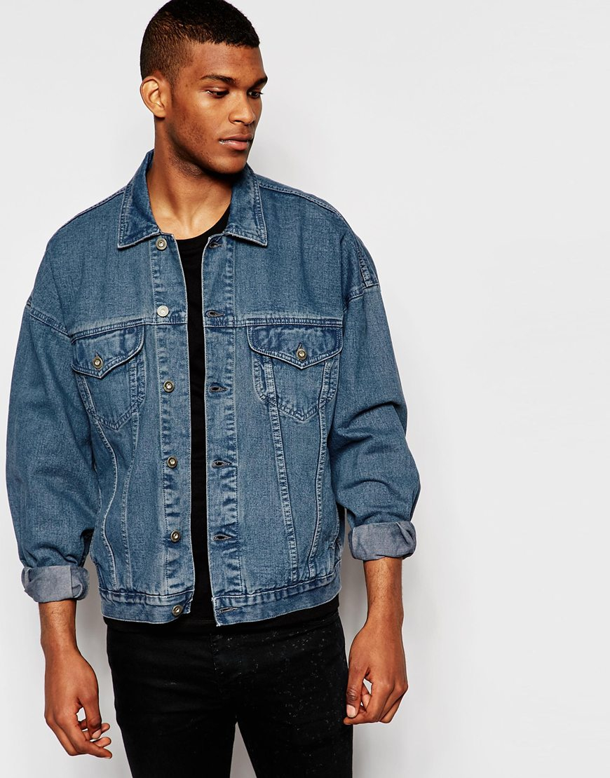 100% Authentic Sale Online Free Shipping Geniue Stockist Denim Overhead Jacket In Blue Wash - Blue wash Asos Supply Cheap Online Discount Authentic Online Z9Enq4g