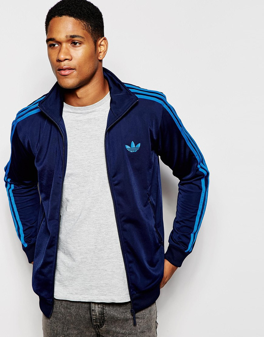 lyst adidas originals street track top in blue for men. Black Bedroom Furniture Sets. Home Design Ideas
