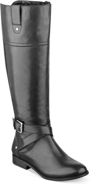Marc Fisher Field Lace Up Tall Riding Boots In Black Lyst