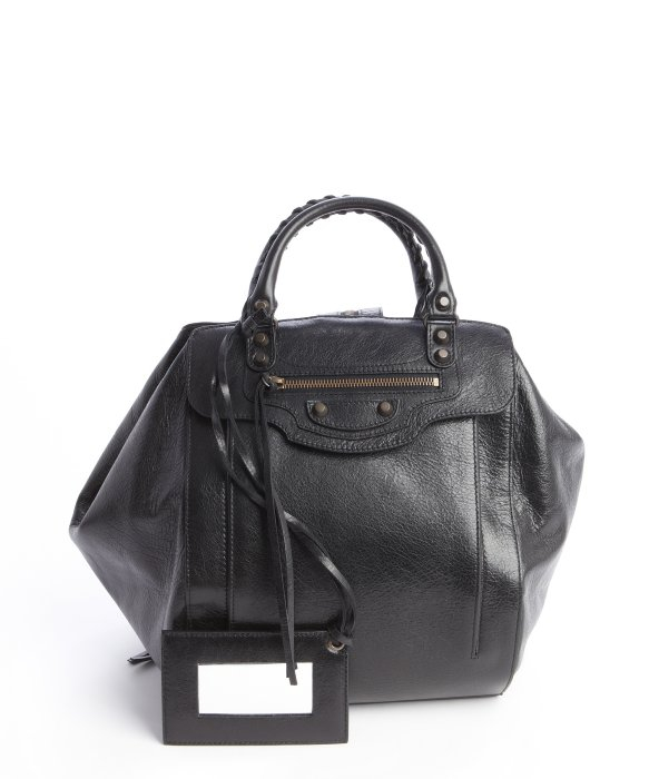 Lyst - Balenciaga Black Leather Classic Arena Traveler Backpack ...
