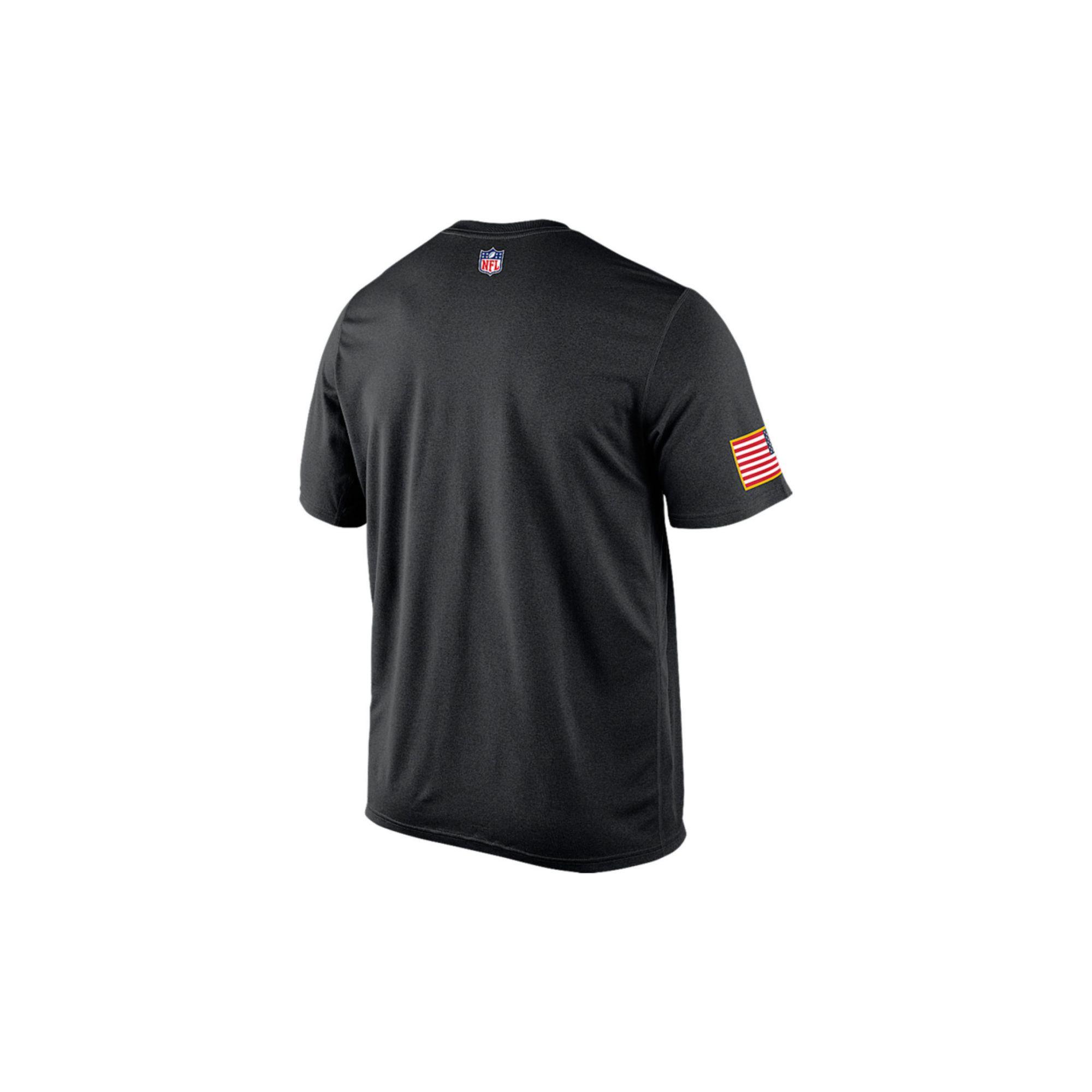 best service 53cd8 98ec0 Nike Black Mens Short-sleeve Buffalo Bills Salute To Service Legend T-shirt  for men