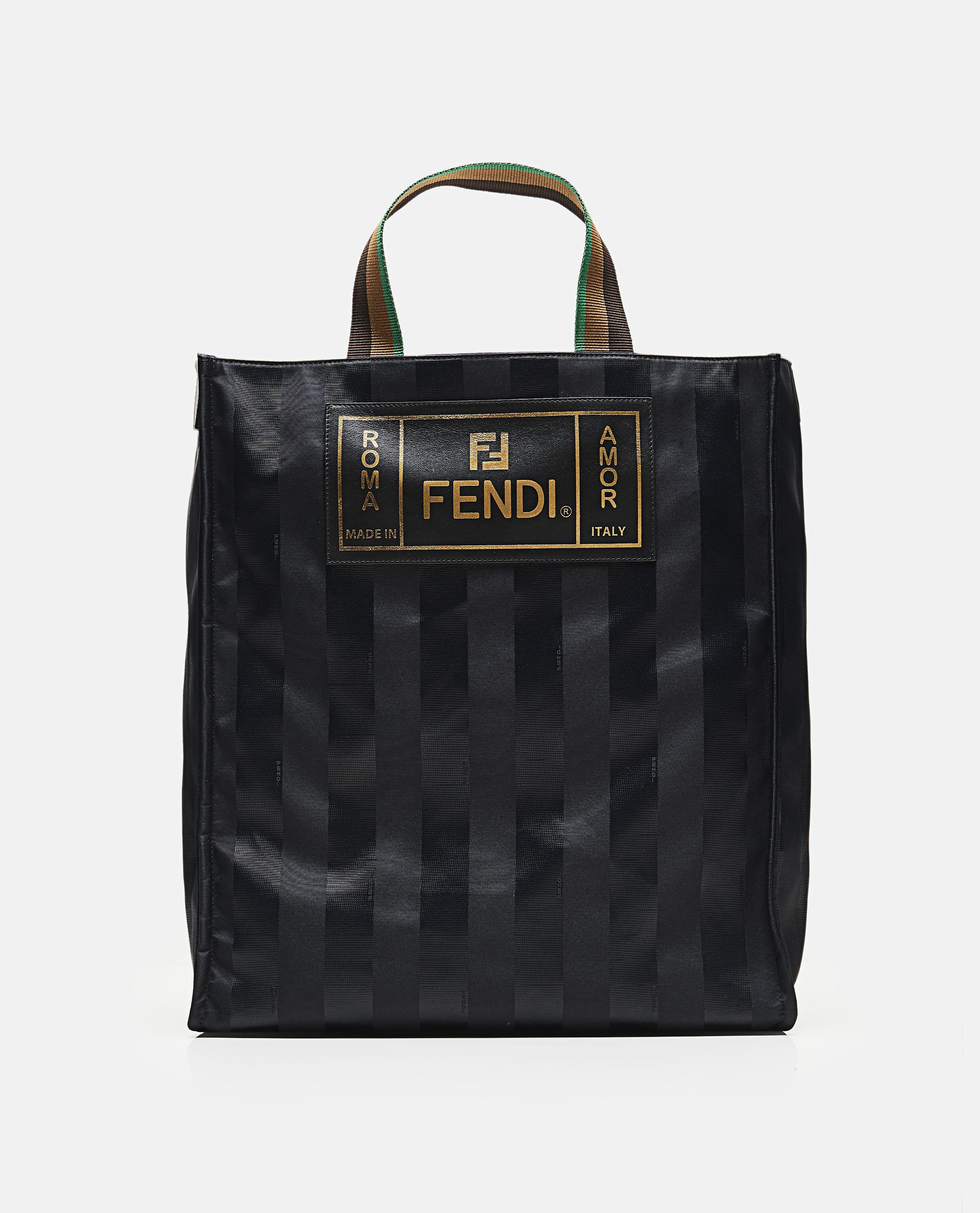 990d08f88e97 Fendi Striped Tote Bag in Black for Men - Save 31% - Lyst