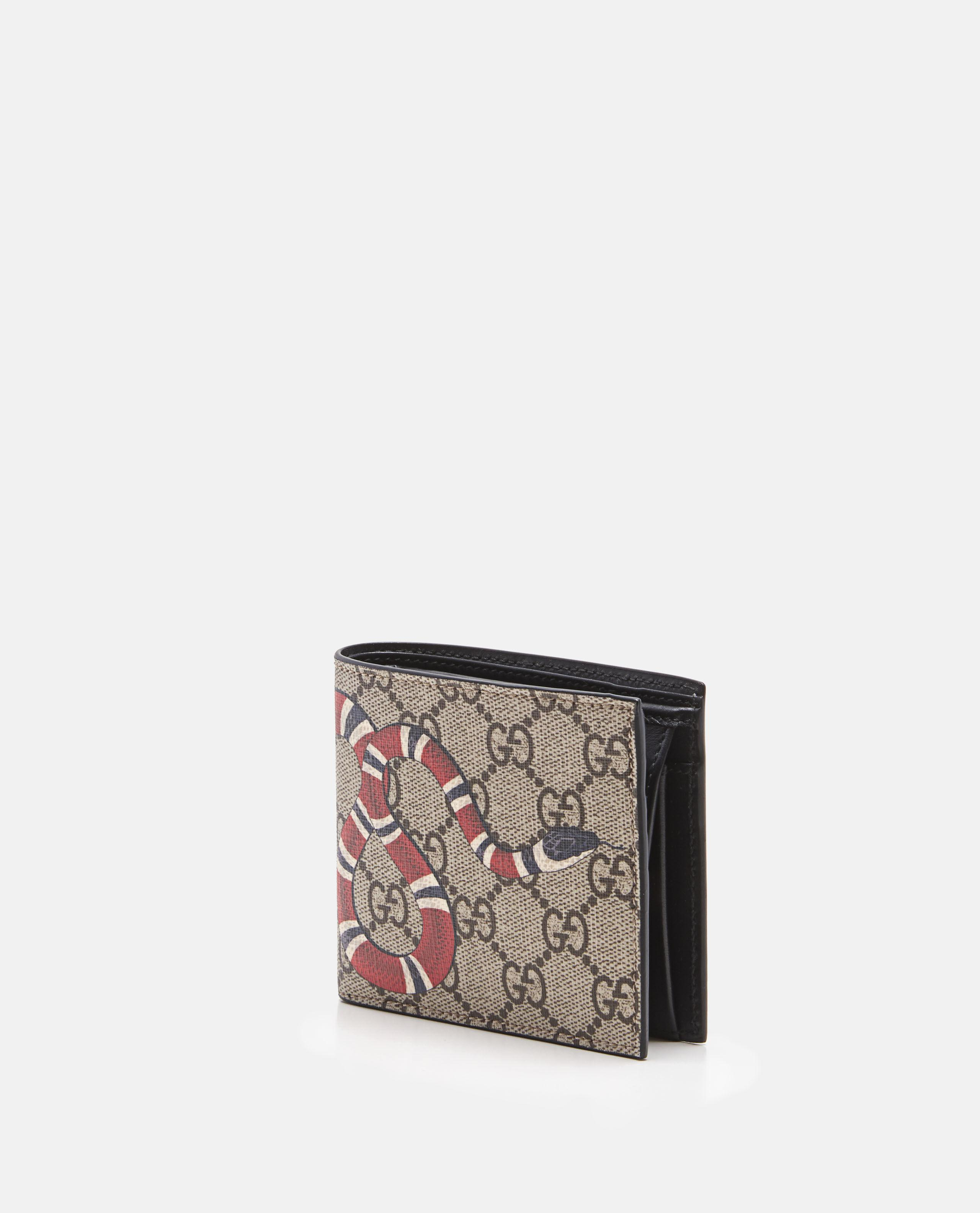 053a684e542 Lyst Gucci Kingsnake Print Gg Supreme Coin Wallet In Brown For Men