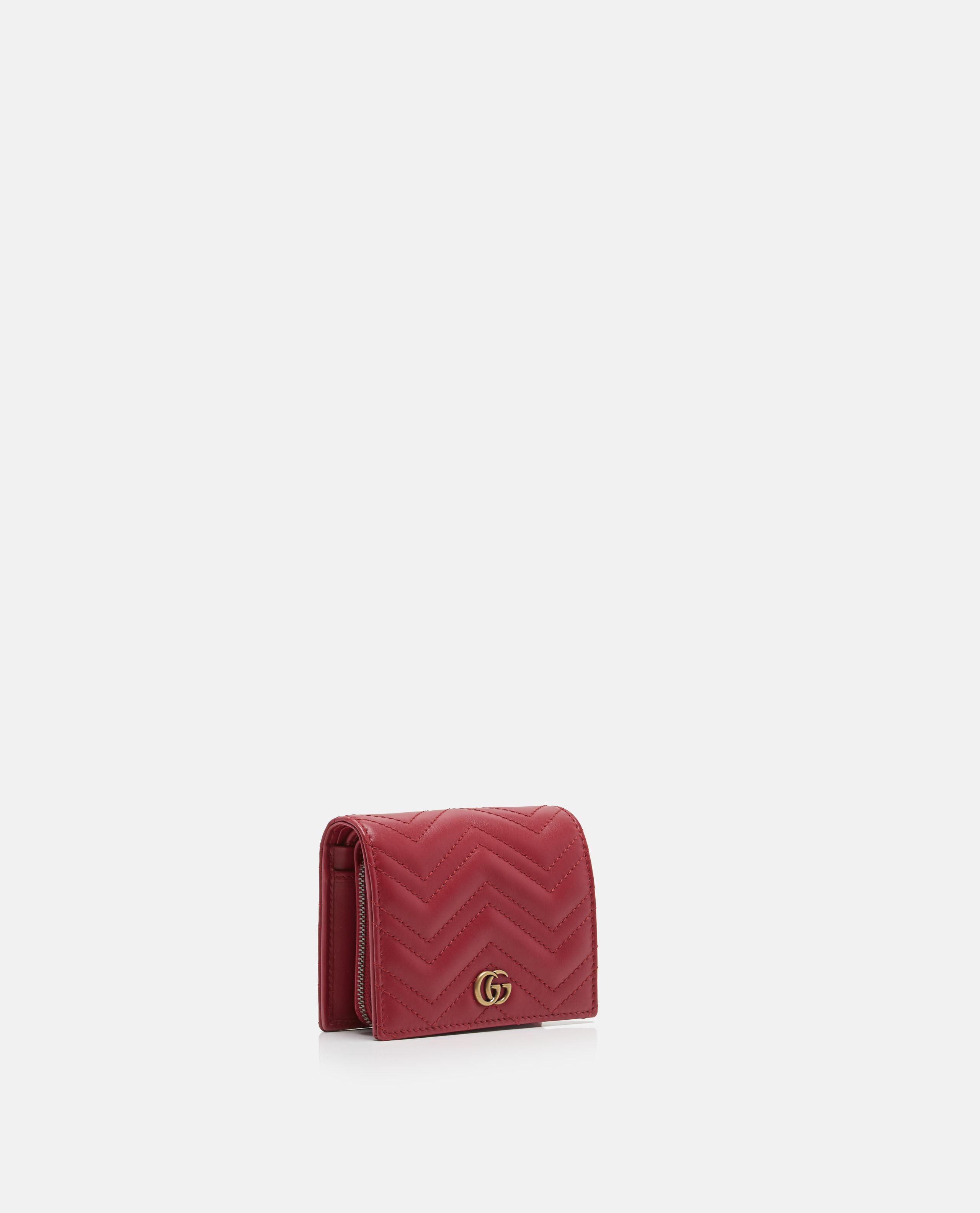 Lyst - Gucci GG Marmont Leather Wallet in Red 6b84c32318
