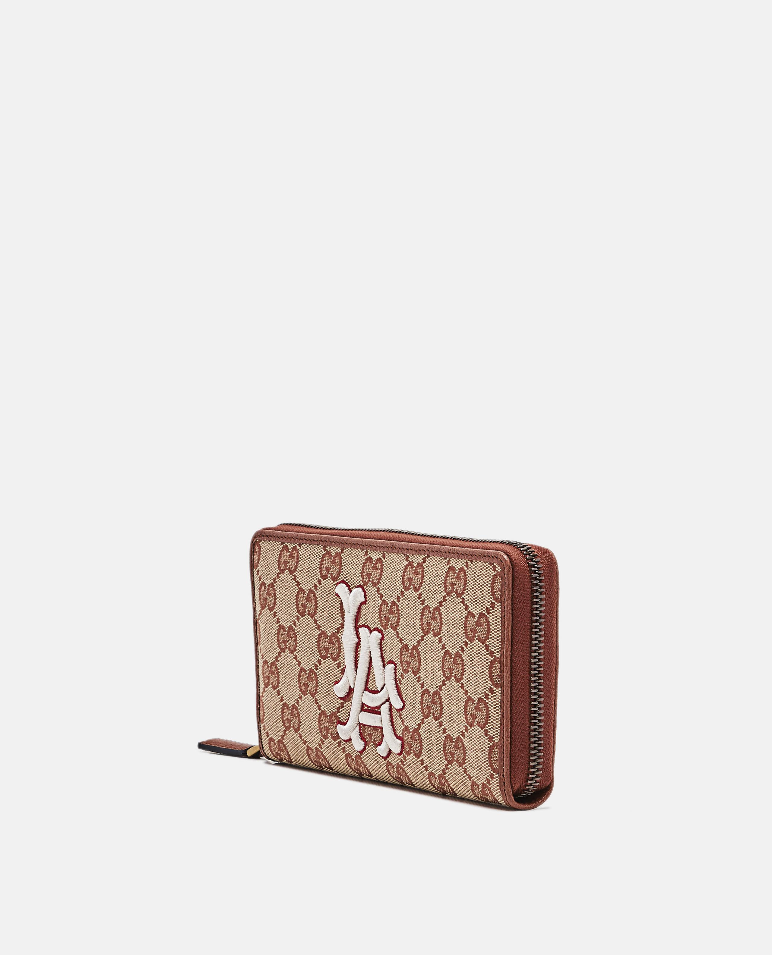 1665c7bd18a5 Gucci Original Gg Zip Around Wallet With La Angels Patch in Brown ...