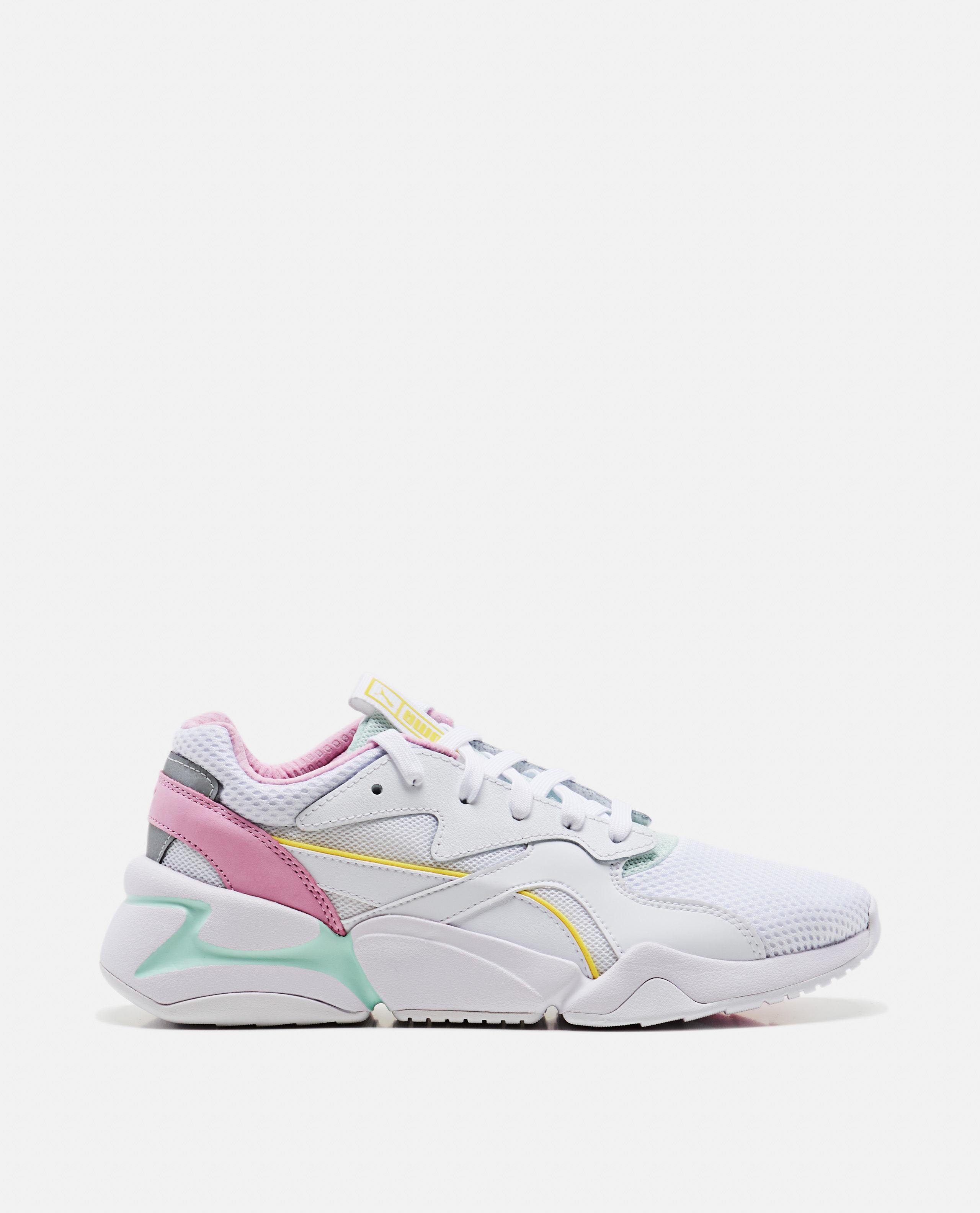 Damen Puma Sneaker   NOVA 90'S BLOC WhitePale Pink