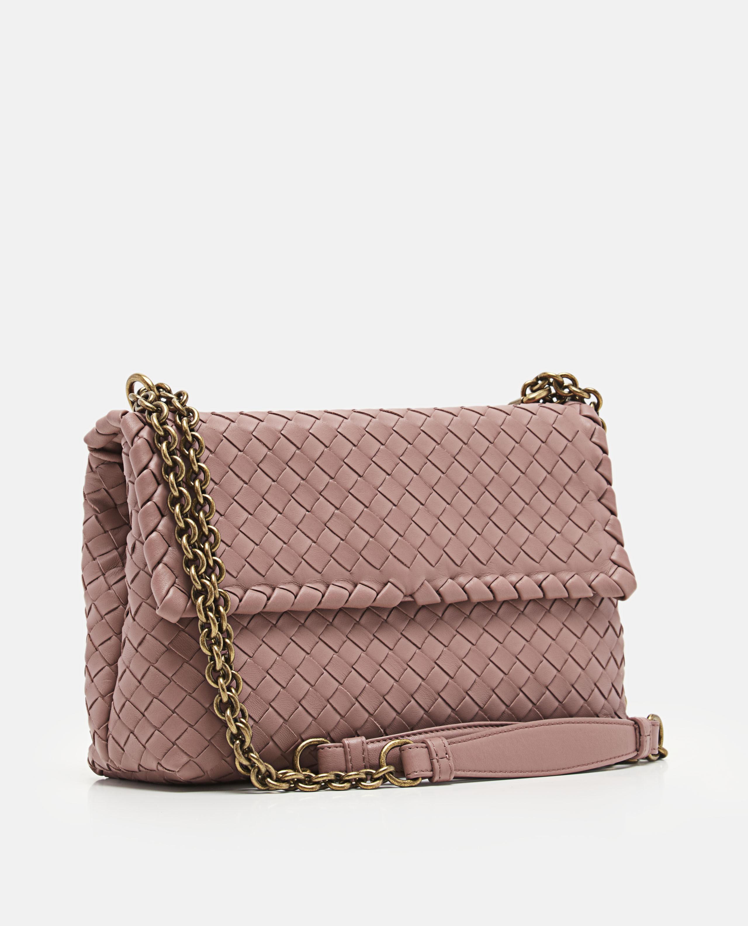 97b8f4ac546d Bottega Veneta Intrecciato Nappa Baby Olimpia Bag in Pink - Lyst
