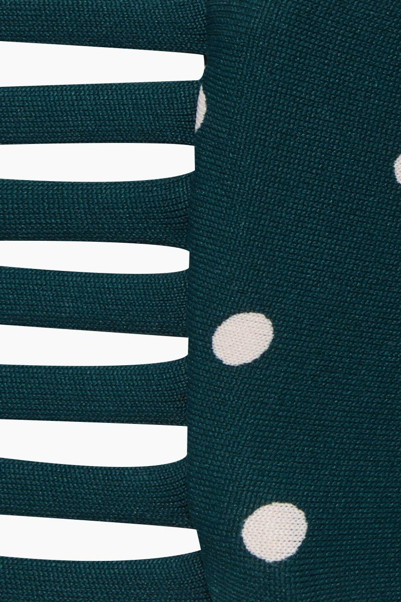 294f079cfe95e Seafolly - Green Aralia Strappy Racerback Bikini Top - Emerald/rose Polka  Dot Print -. View fullscreen