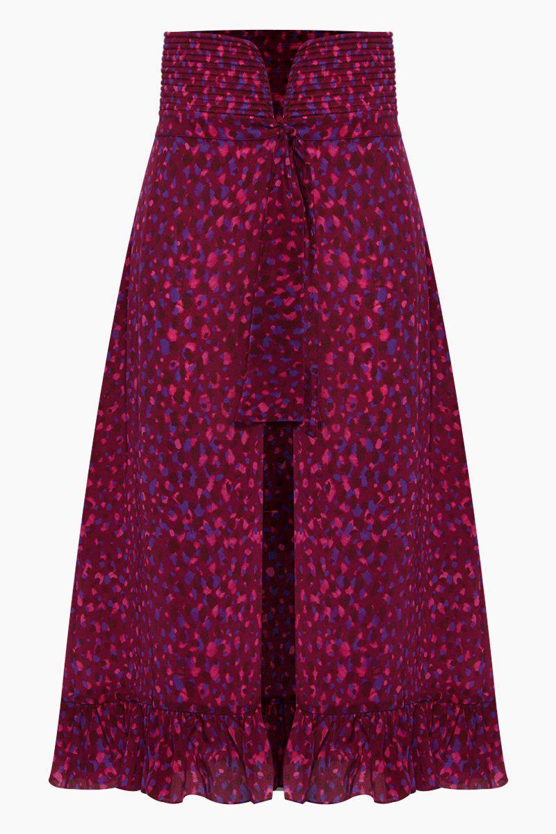 76bff0737 Adriana Degreas. Women's Silk Crepe De Chine Matelasse Midi Skirt ...