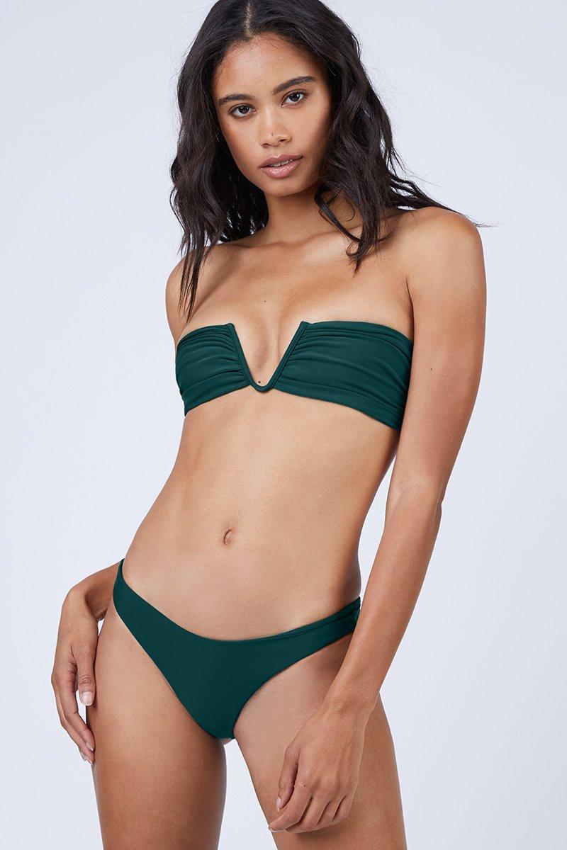 6a7f8a26d7 Mikoh Swimwear Reunion V-wire Bandeau Bikini Top - Kelp Green in ...