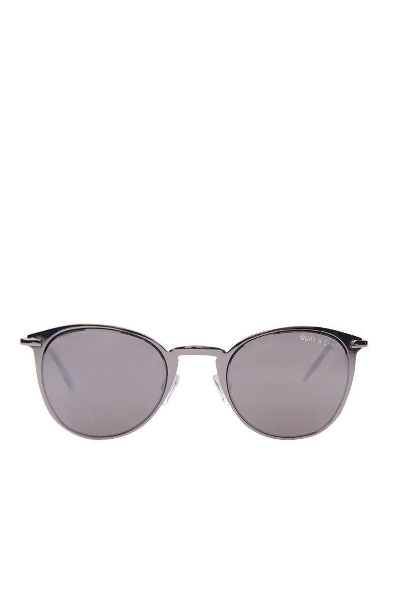 Quay Domino Sunglasses in Silver (Metallic)
