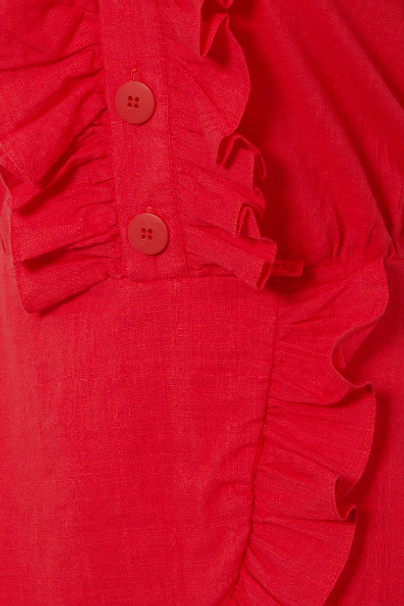 d802d53b046f Clube Bossa - Follina Ruffle Romper - Pepper Red - Lyst. View fullscreen