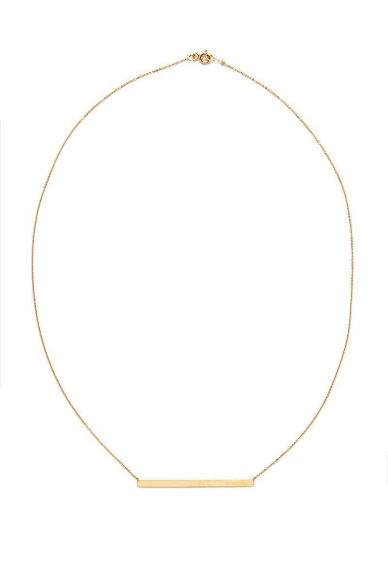 Talia Naomi Finish Line Necklace in Gold (Metallic)