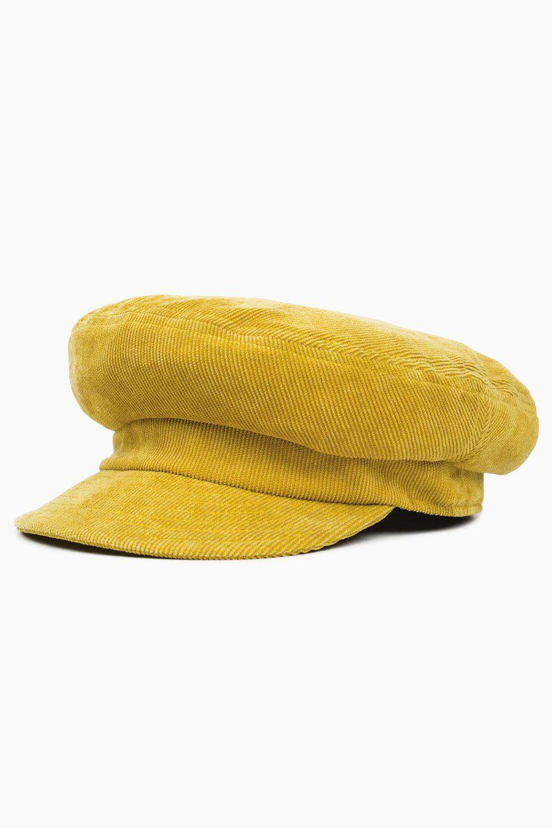 Brixton Fiddler Cap - Yellow in Yellow - Lyst 1dd9f88fd6e1