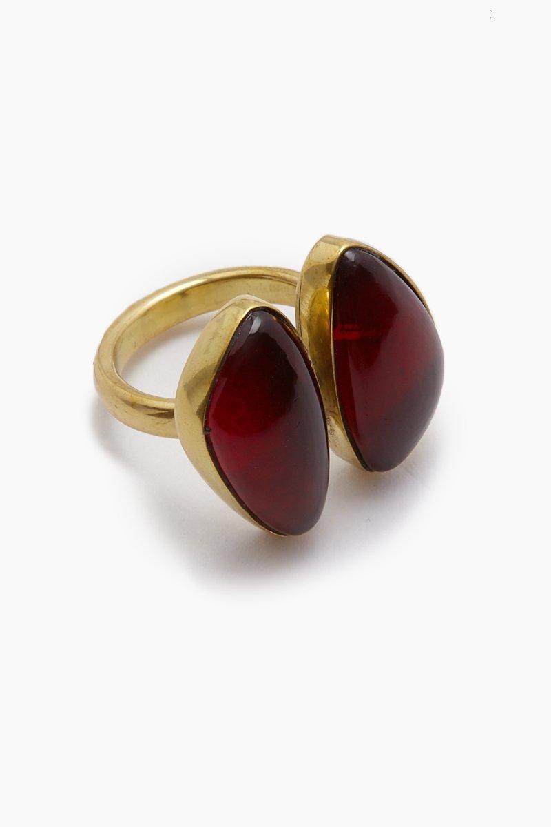 Lena Bernard Naenia Red Quartz Ring in Metallic