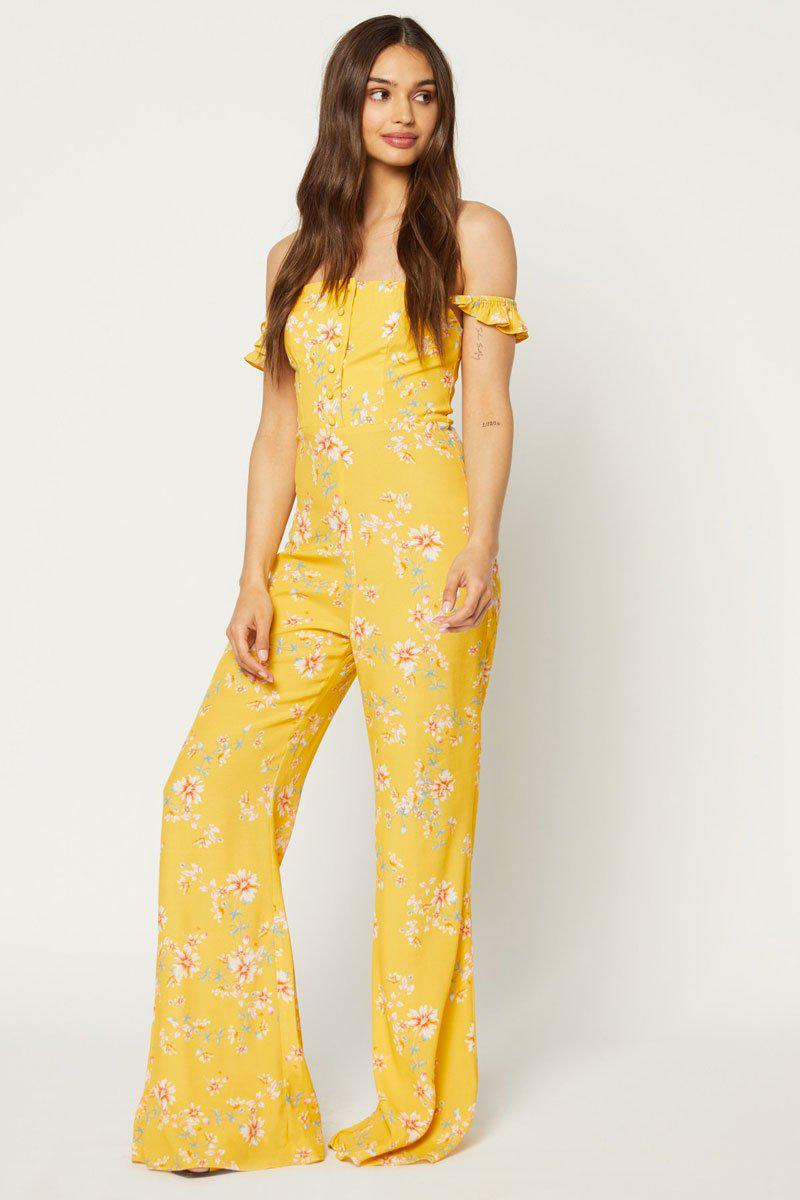 088d6a0a44ea Flynn Skye Bardot Jumpsuit - Touch Of Honey in Yellow - Lyst