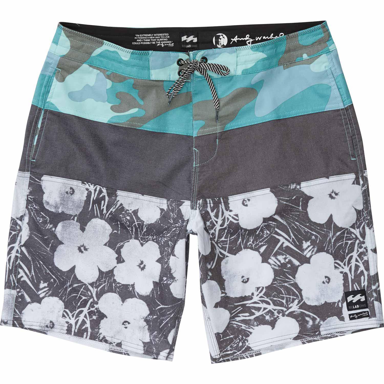 94c0332bdc Billabong Gray Warholsurf Tribong Lo Tide Flowers Boardshort for men