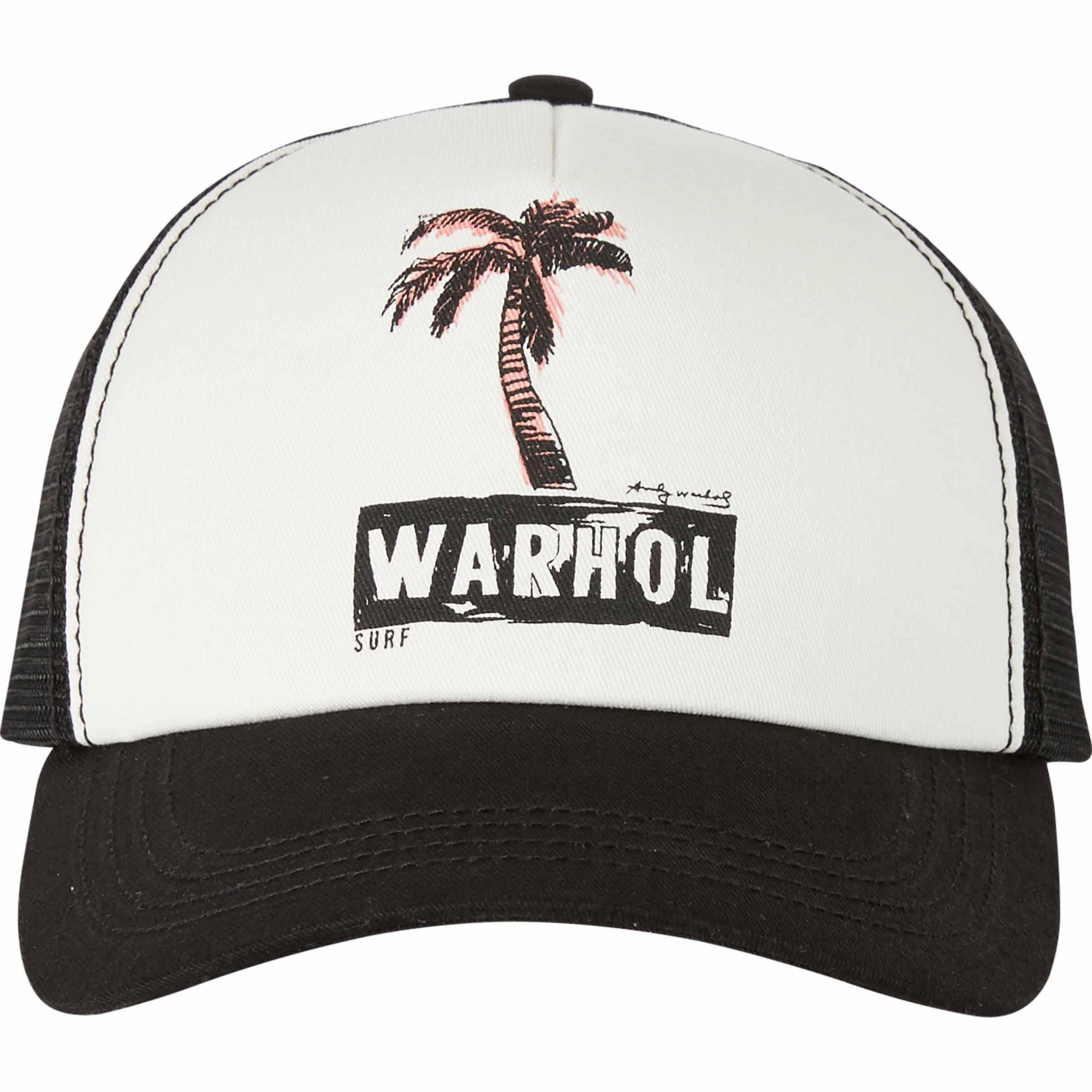 ce5a86be239aed Lyst - Billabong Warholsurf Holly Trucker Hat in Black