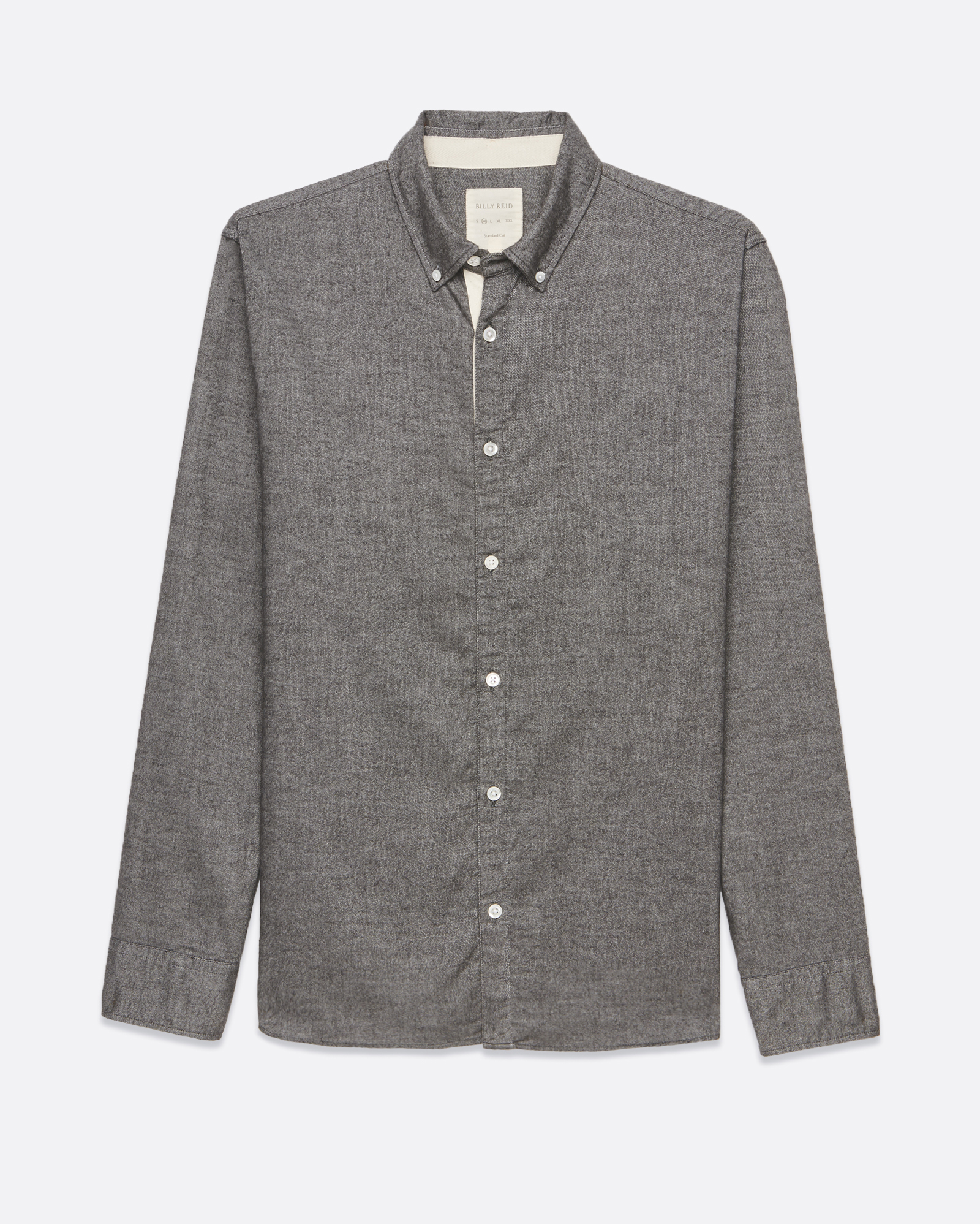 Lyst Billy Reid Brushed Twill Shirt In Gray For Men