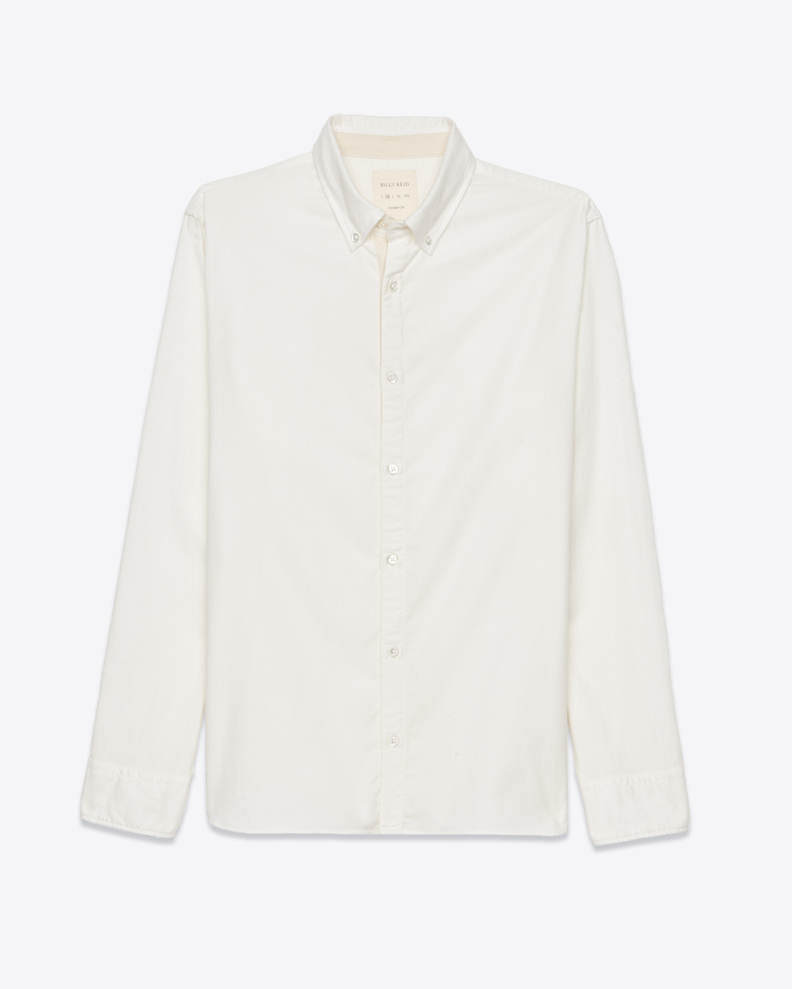 Billy reid brushed twill shirt in white for men white for Brushed cotton twill shirt
